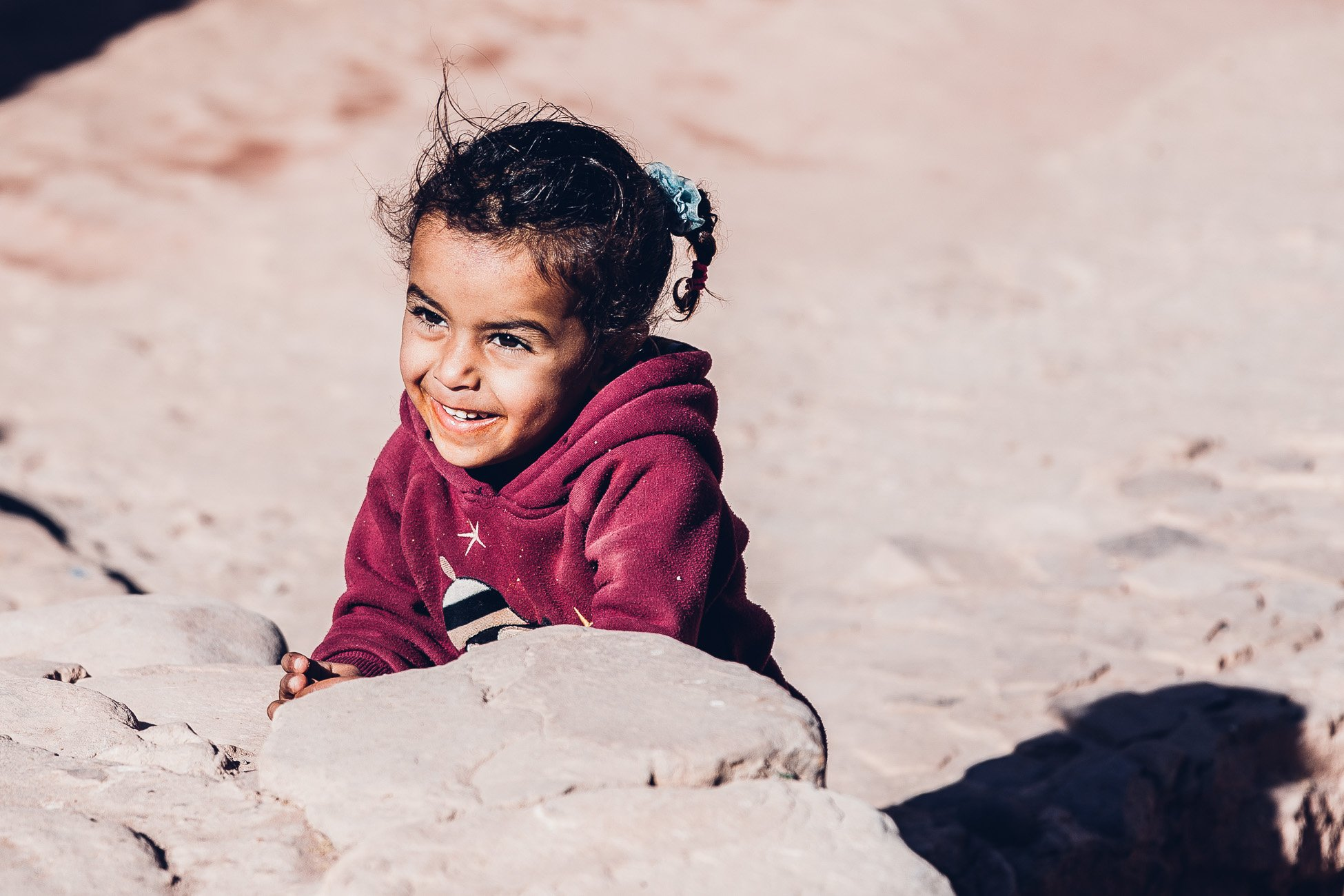Bedouin girl in Petra Jordan