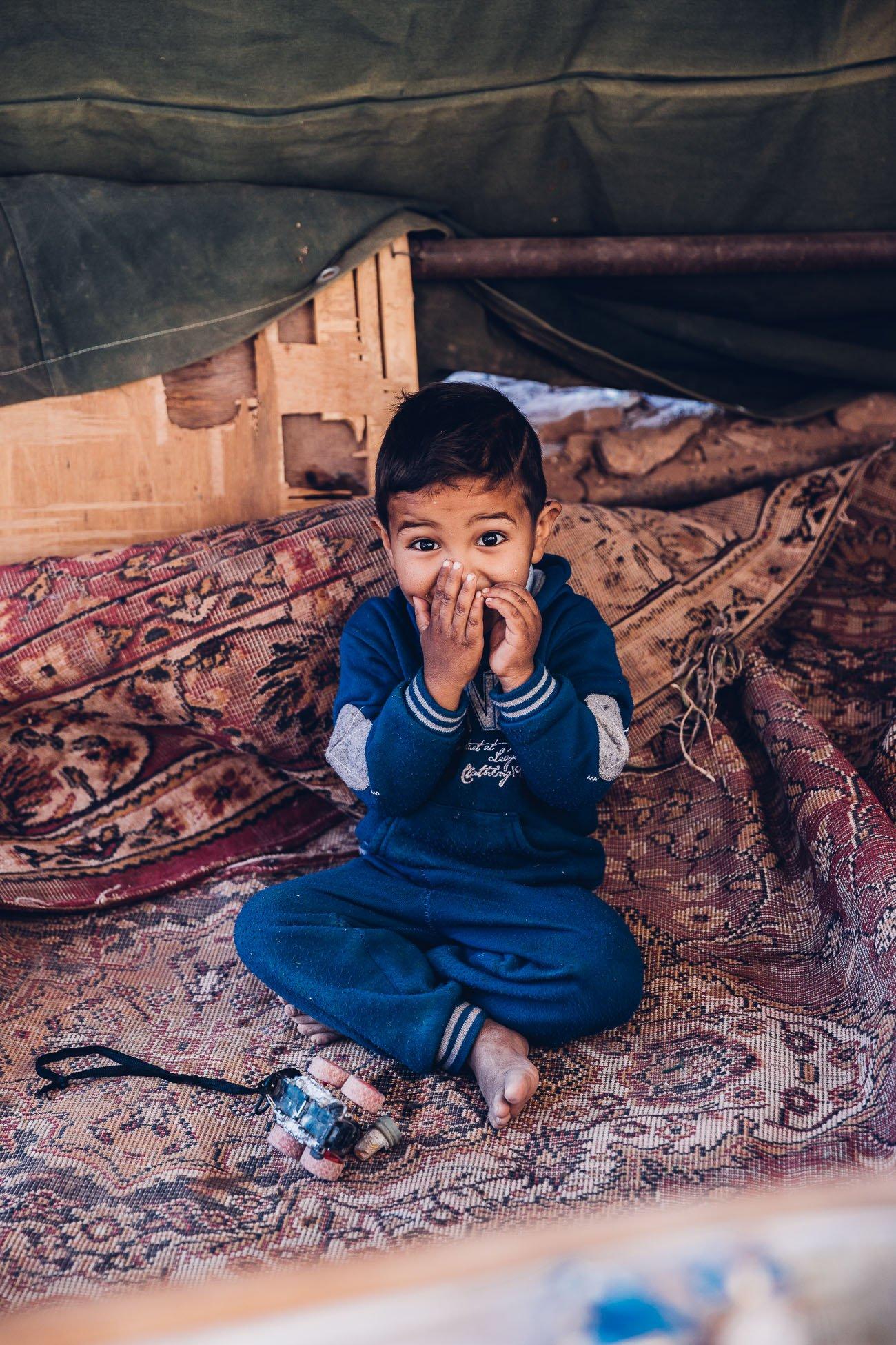 Bedouin boy in Petra Jordan