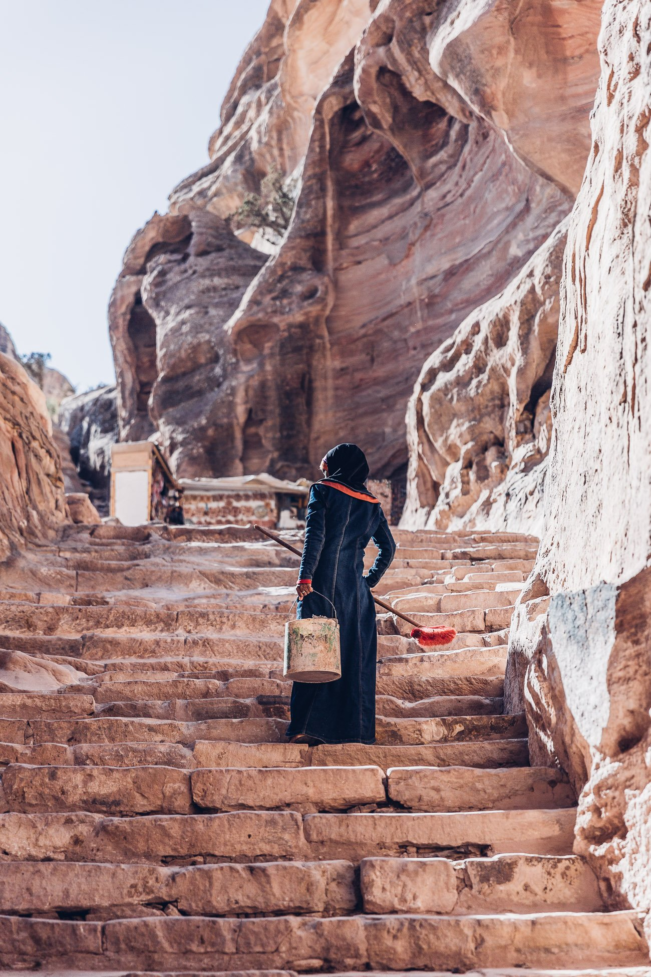 Bedouin woman in Petra Jordan