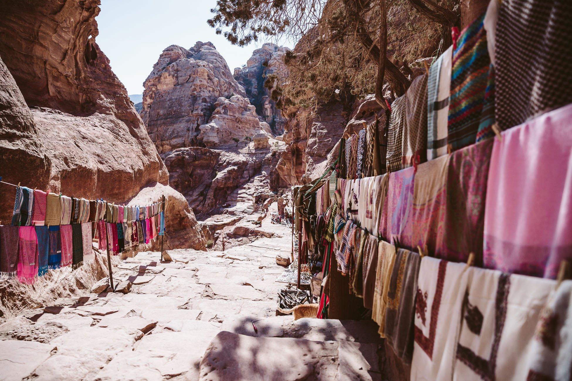 Bedouin stalls in Petra
