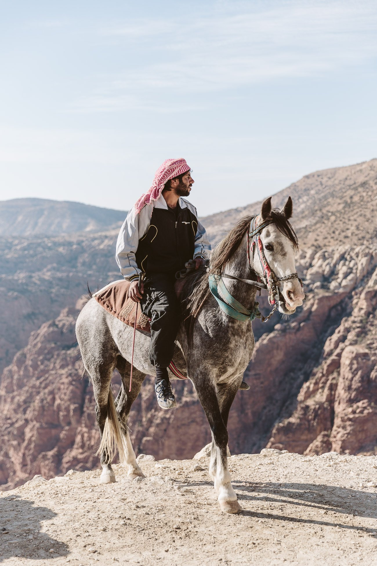 Local Horse rider at Dana Biosphere Reserve Jordan