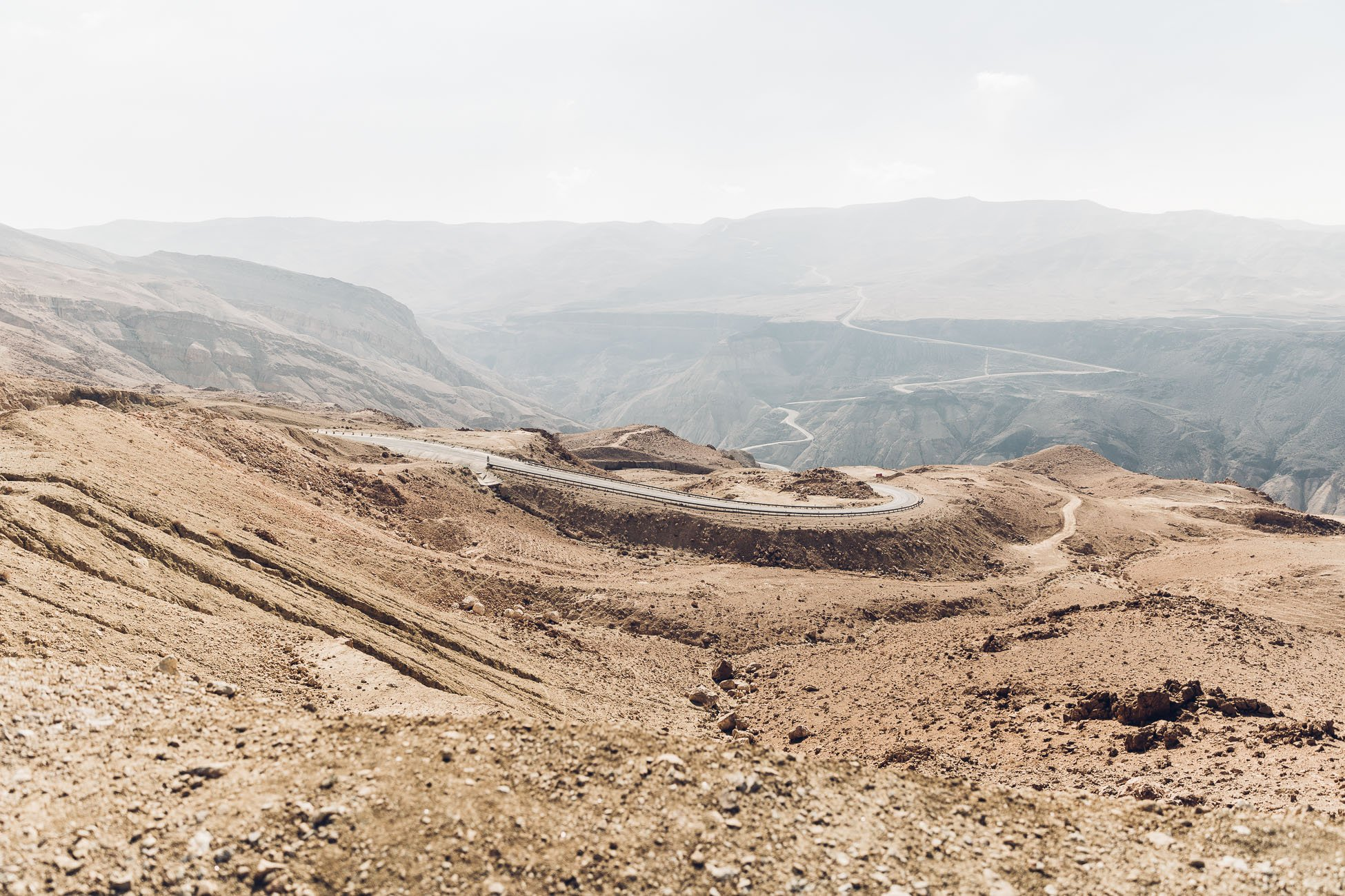 High above in the mountains in Jordan