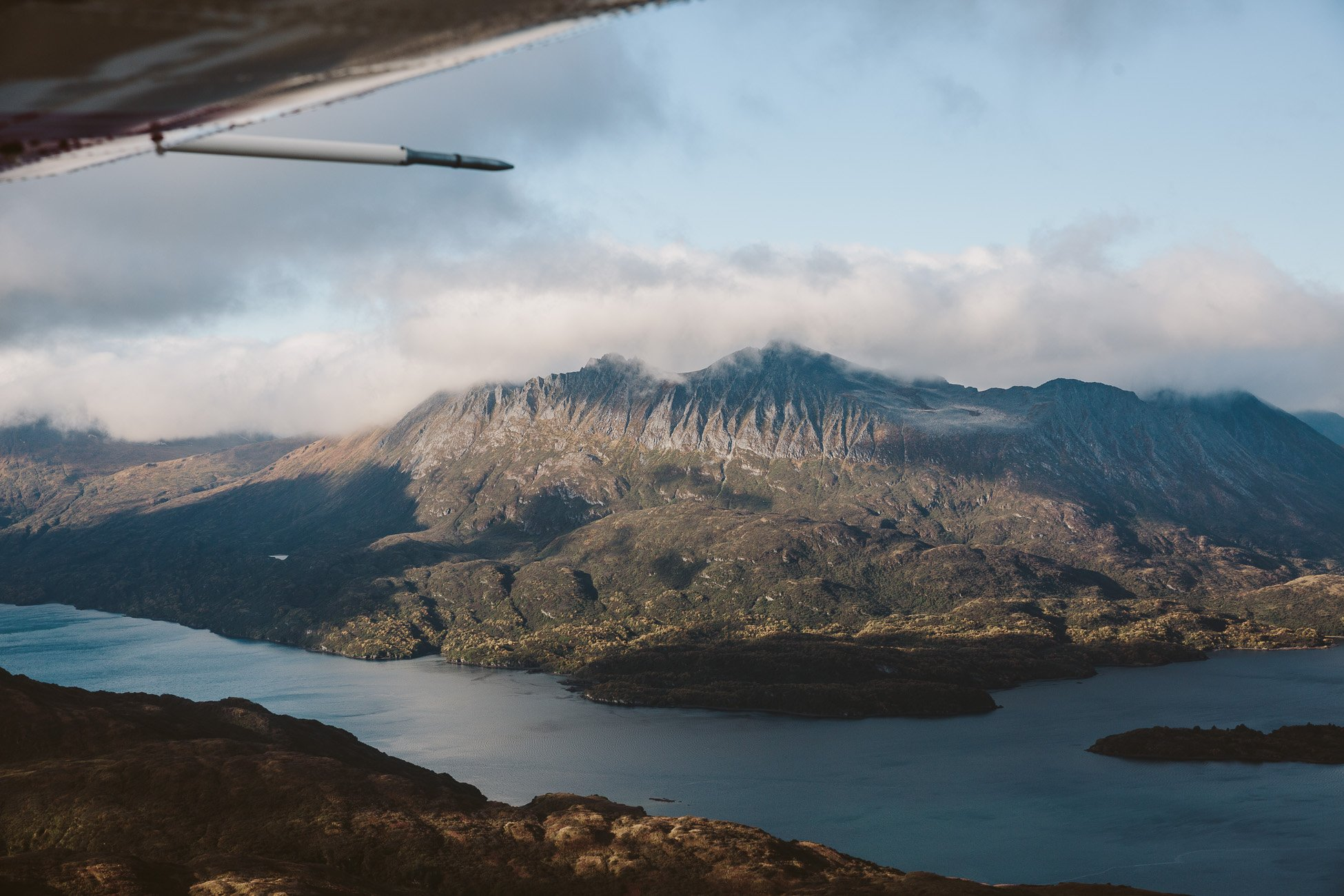 Views of Kodiak Island Alaska from a waterplane of Kingfisher Aviation