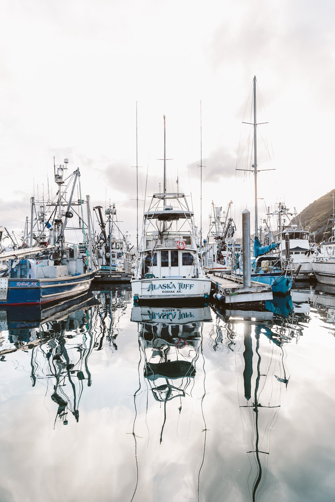 Boats in Kodiak Island's Harbour Alaska