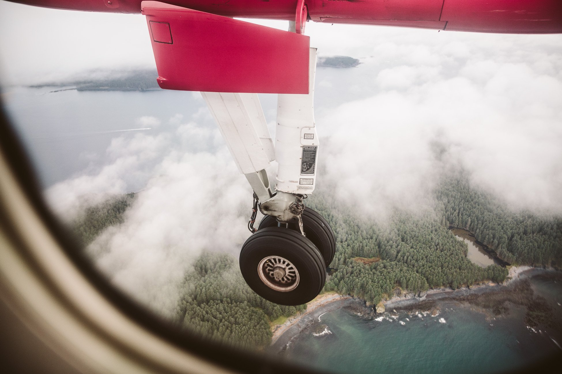 Approaching Kodiak Island Alaska