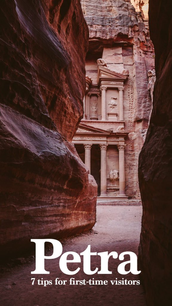 7 tips for a visit of Petra for first-Timers for Pinterest