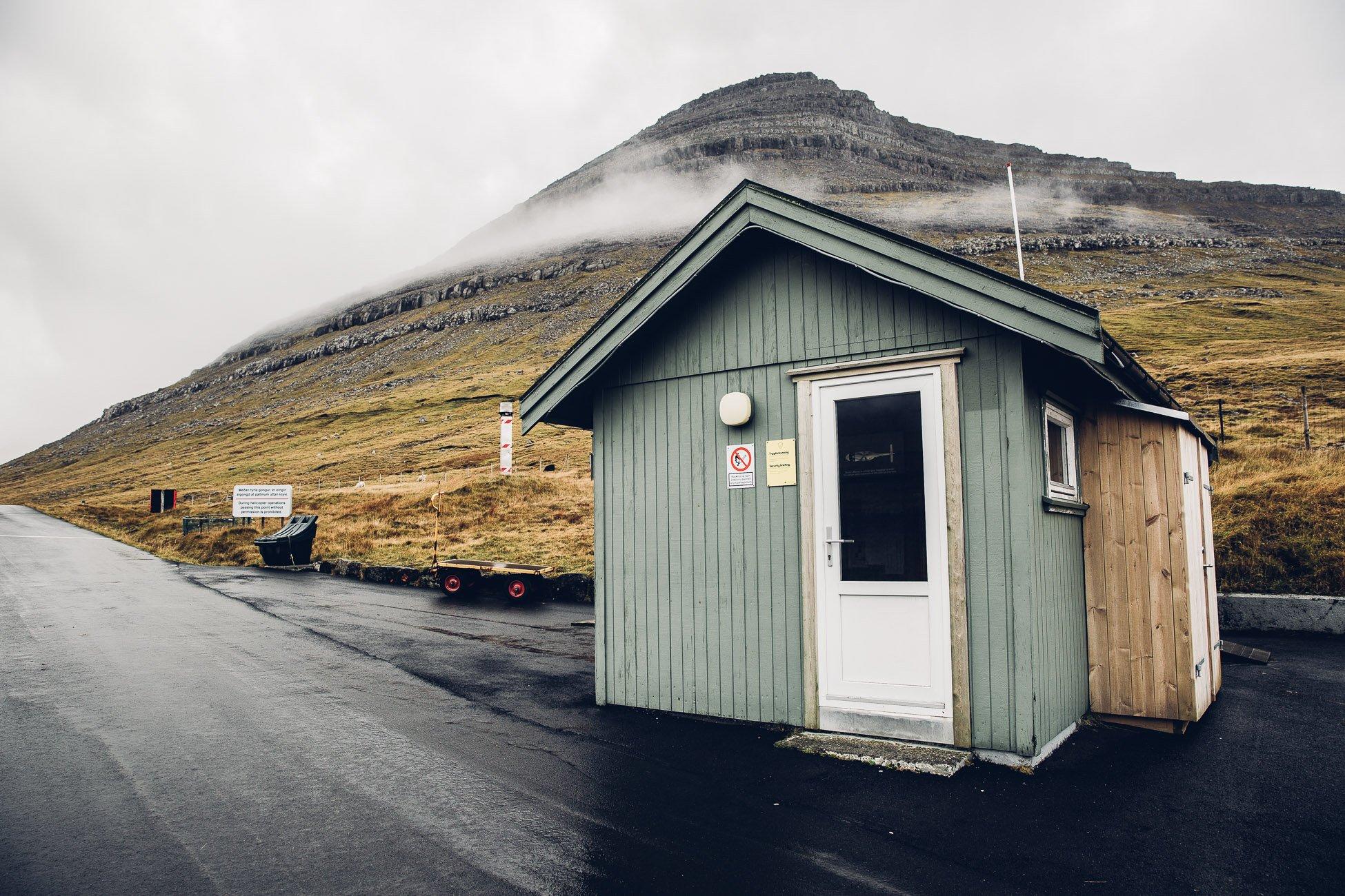 Heliport in Klaksvík on the Faroe Islands