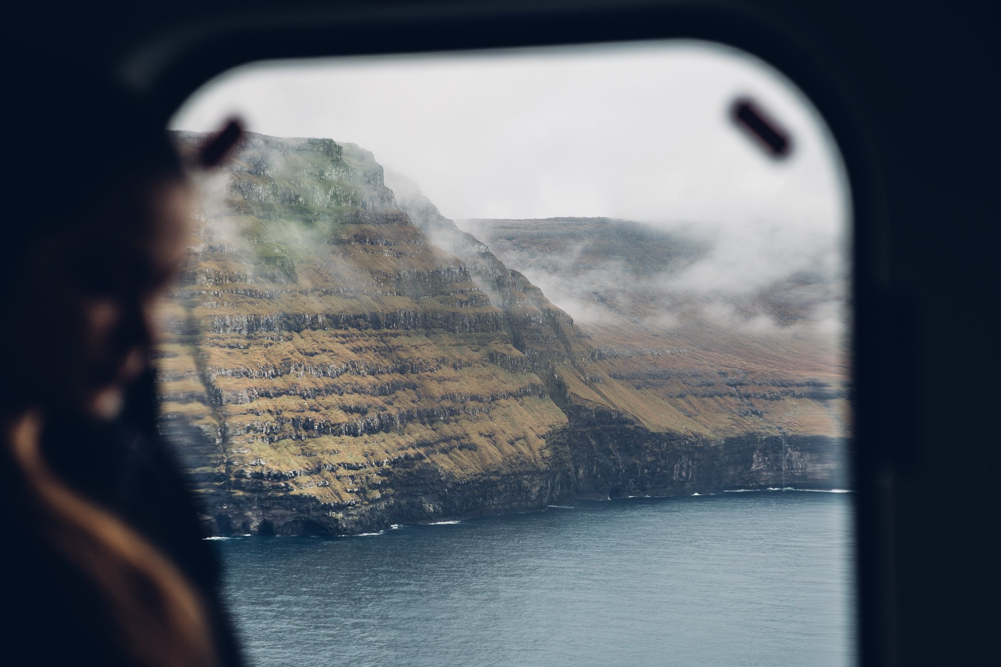 Helicopter Ride to Fugloy on the Faroe Islands