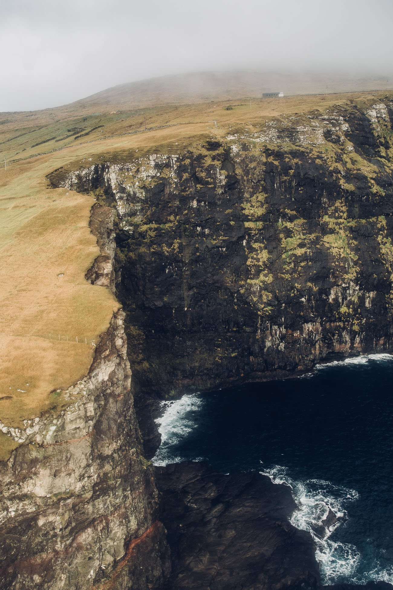 Faroe Islands from a helicopter