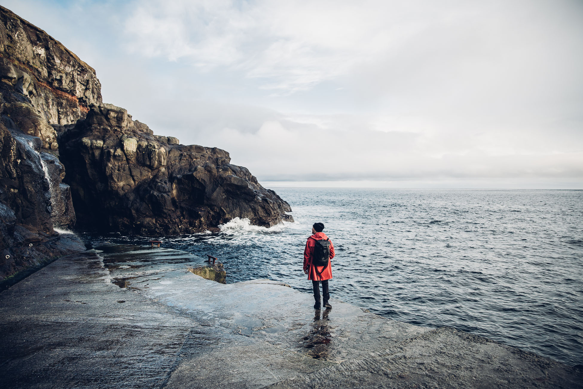 The port of Fugloy Faroe Islands