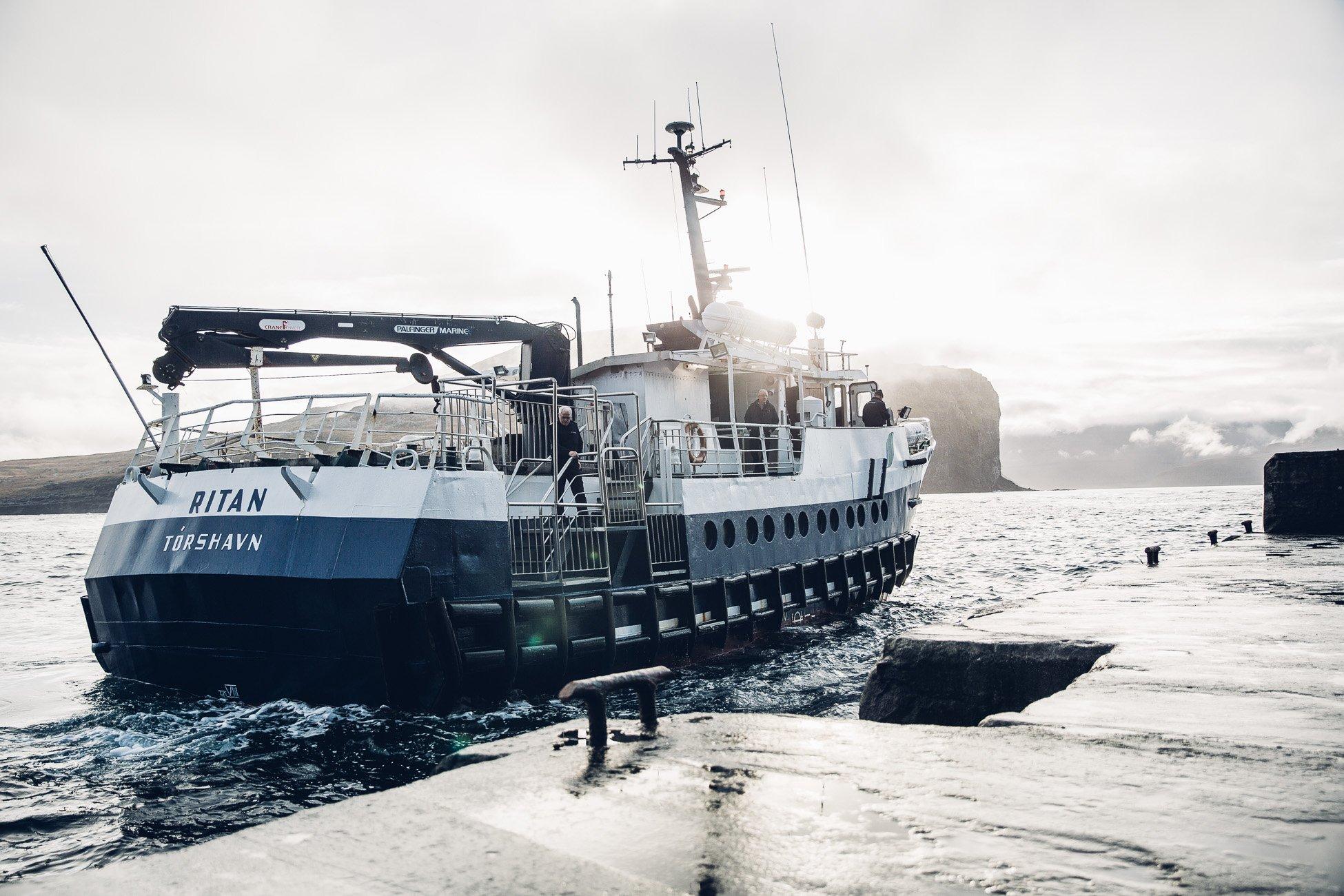 Ferry on Fugloy, Faroe Islands