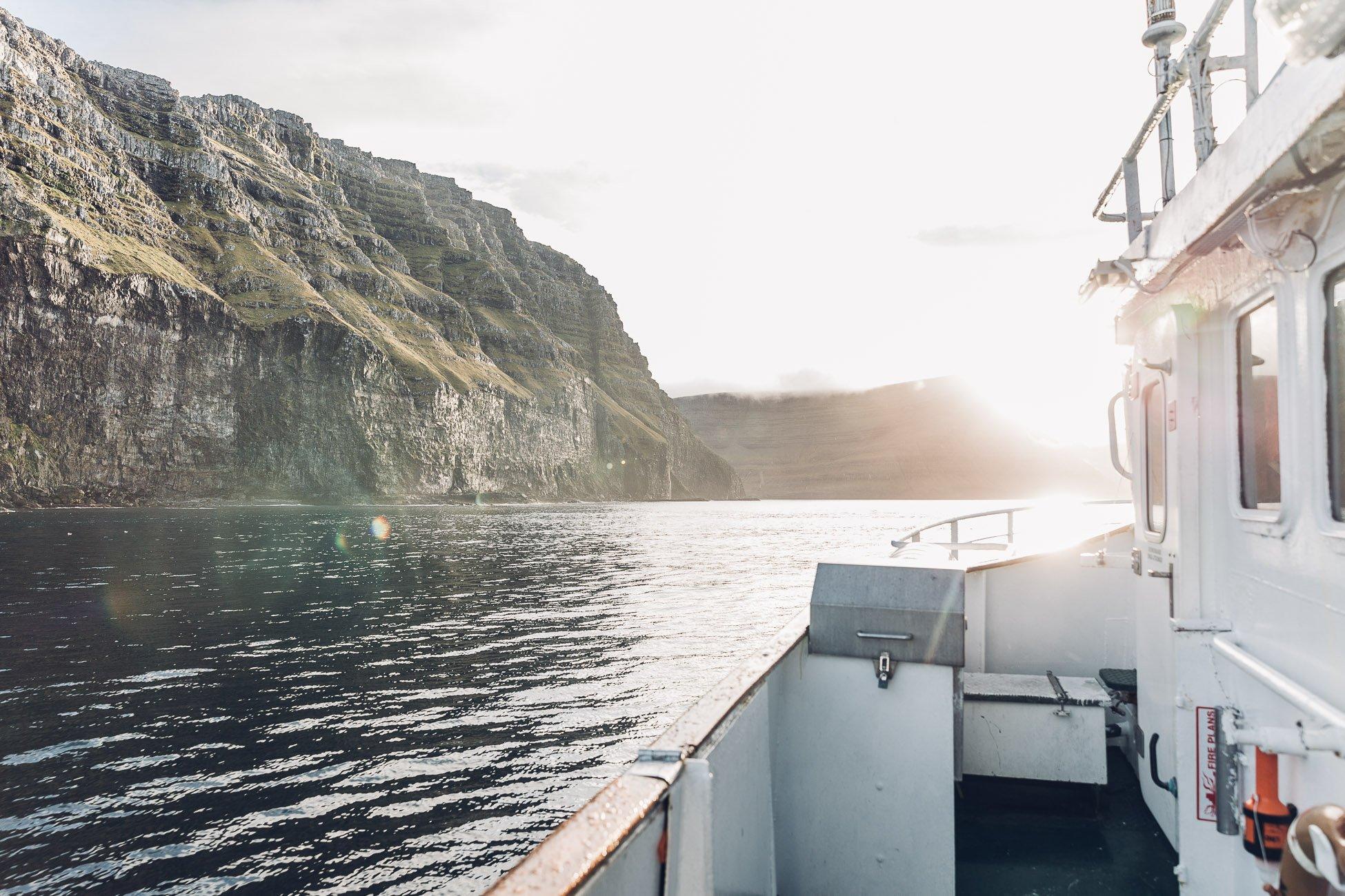 Ferry on the Faroe Islands