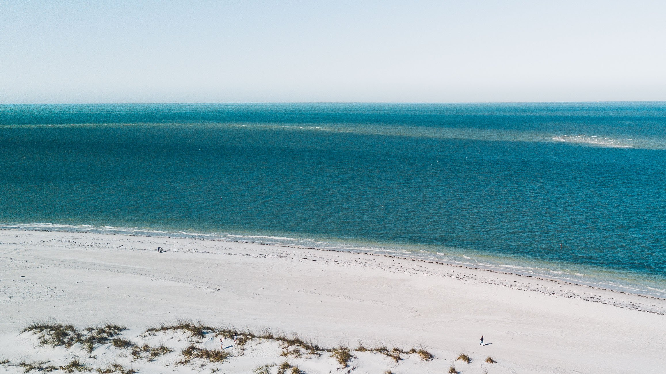Anna Maria Island Florida as seen from above with a drone