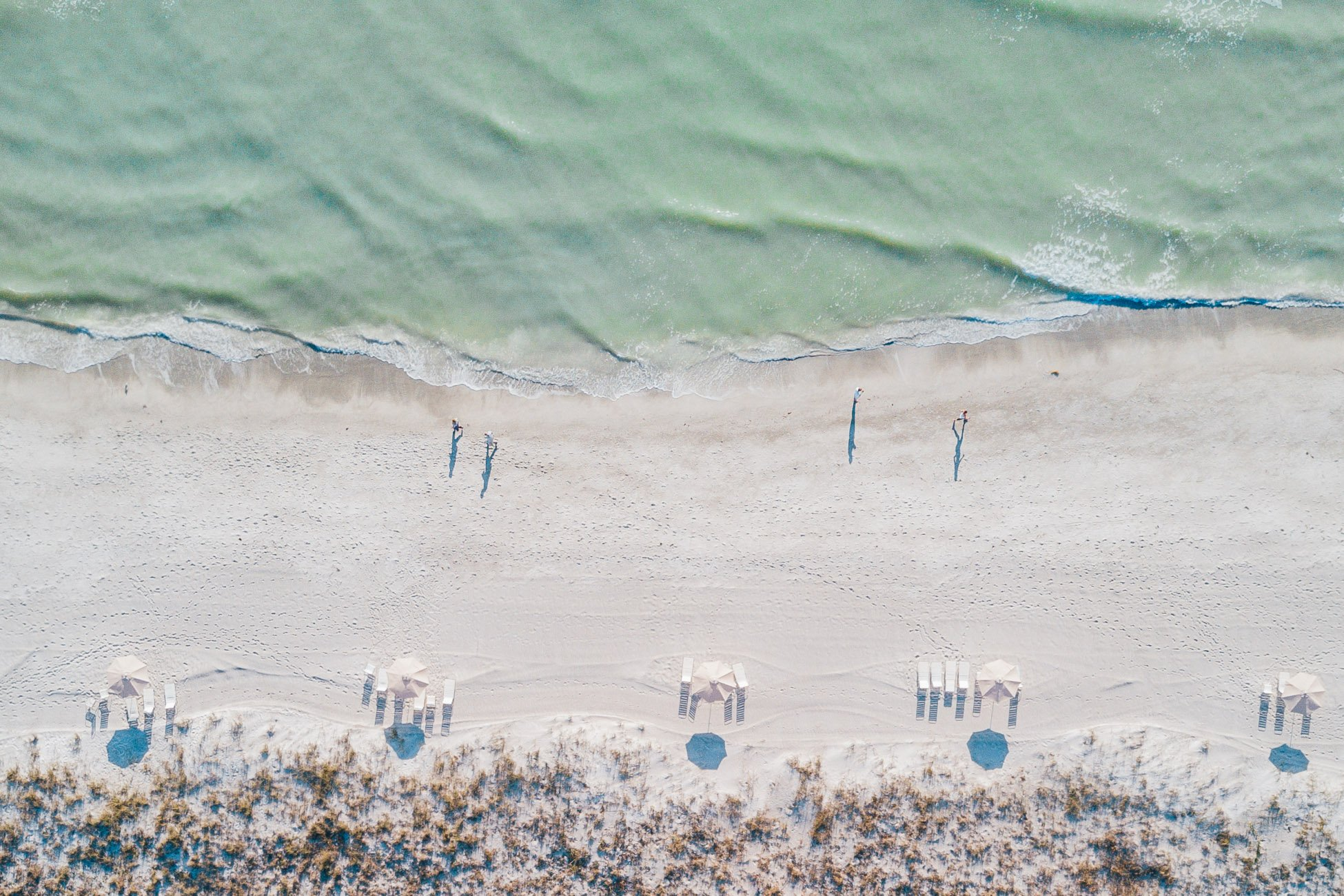 Siesta Key Florida as seen from above with a drone