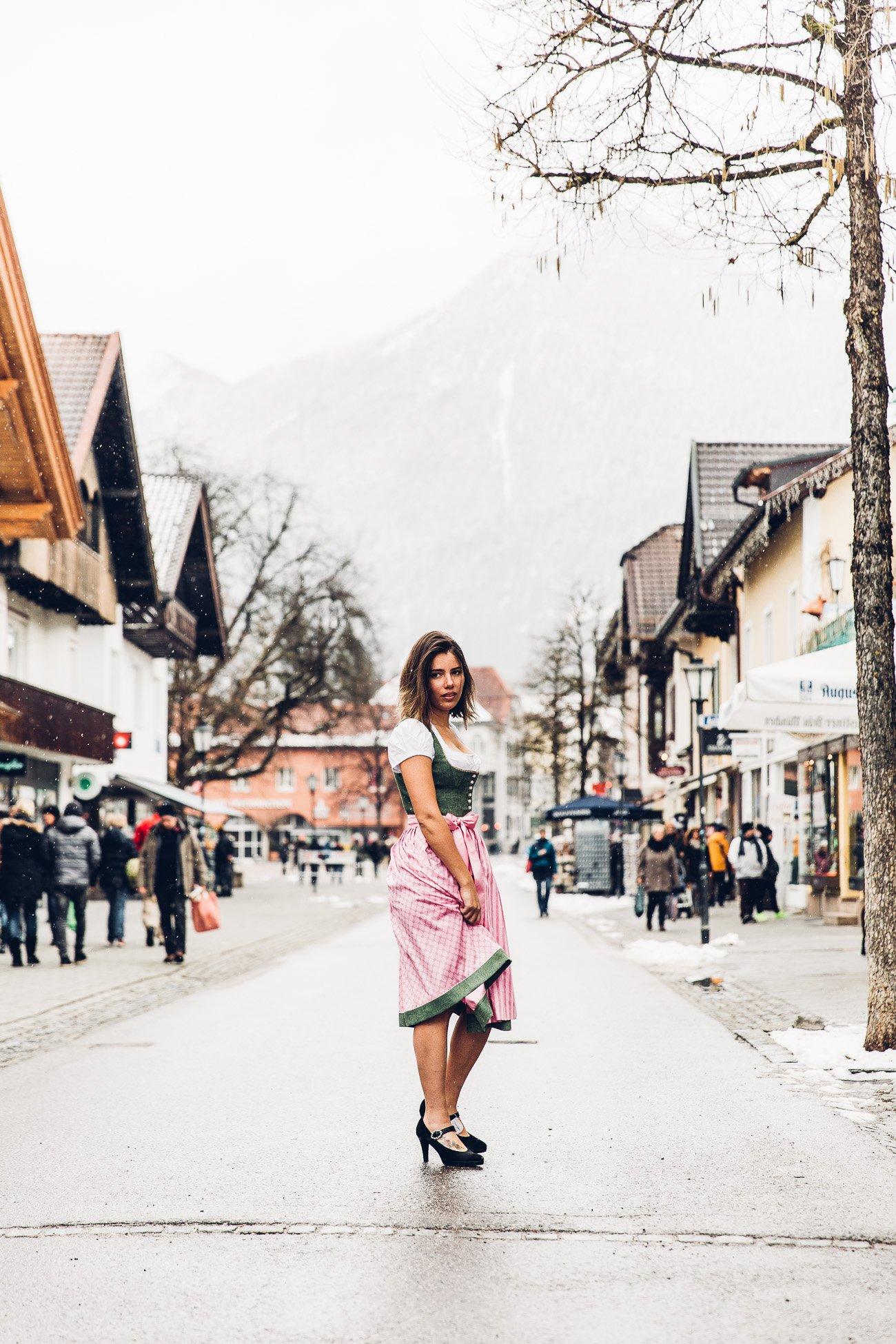 Raira in a Dirndl in Garmisch