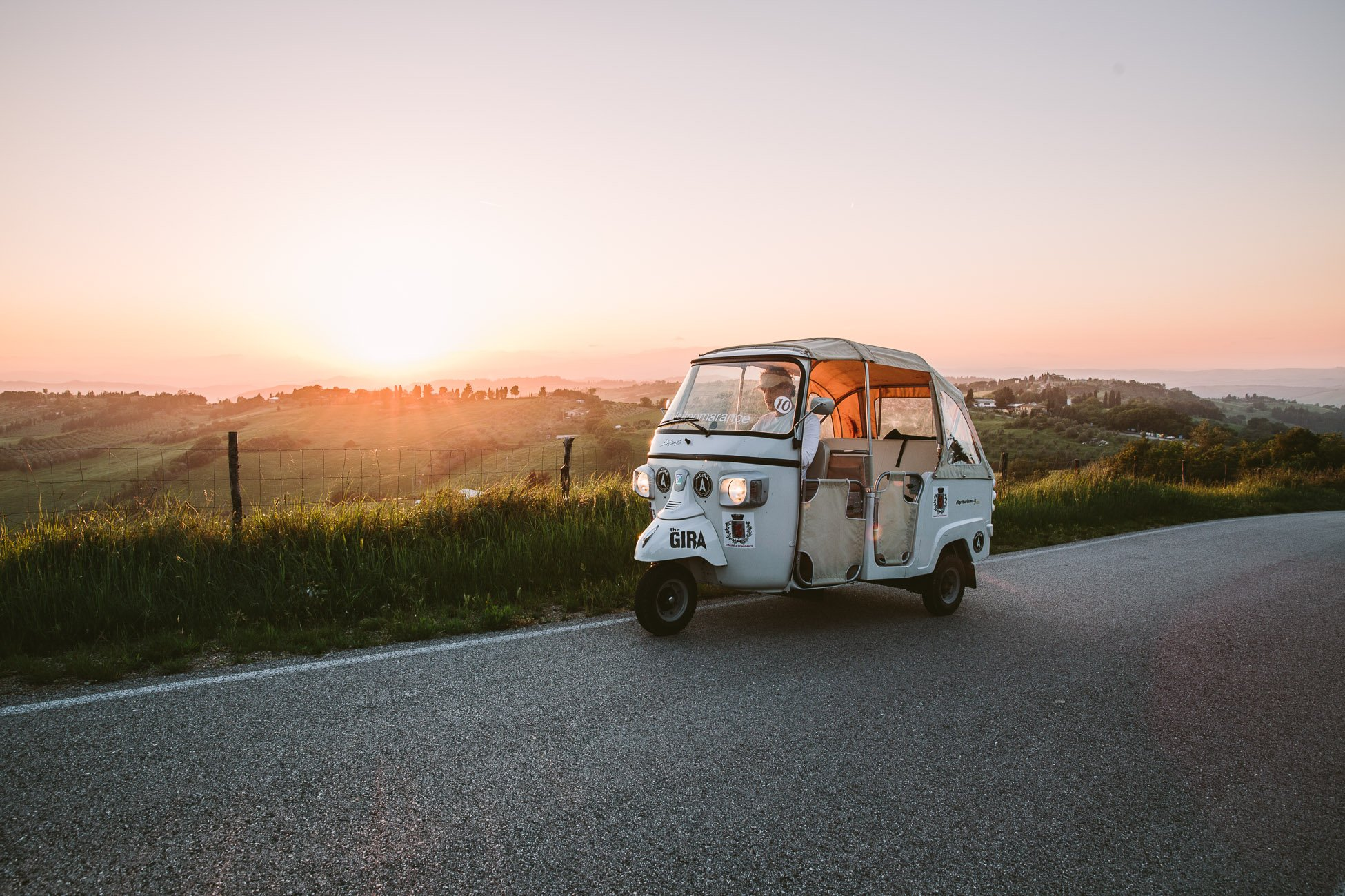 The Gira Tuk-Tuk in Pomarance Tuscany