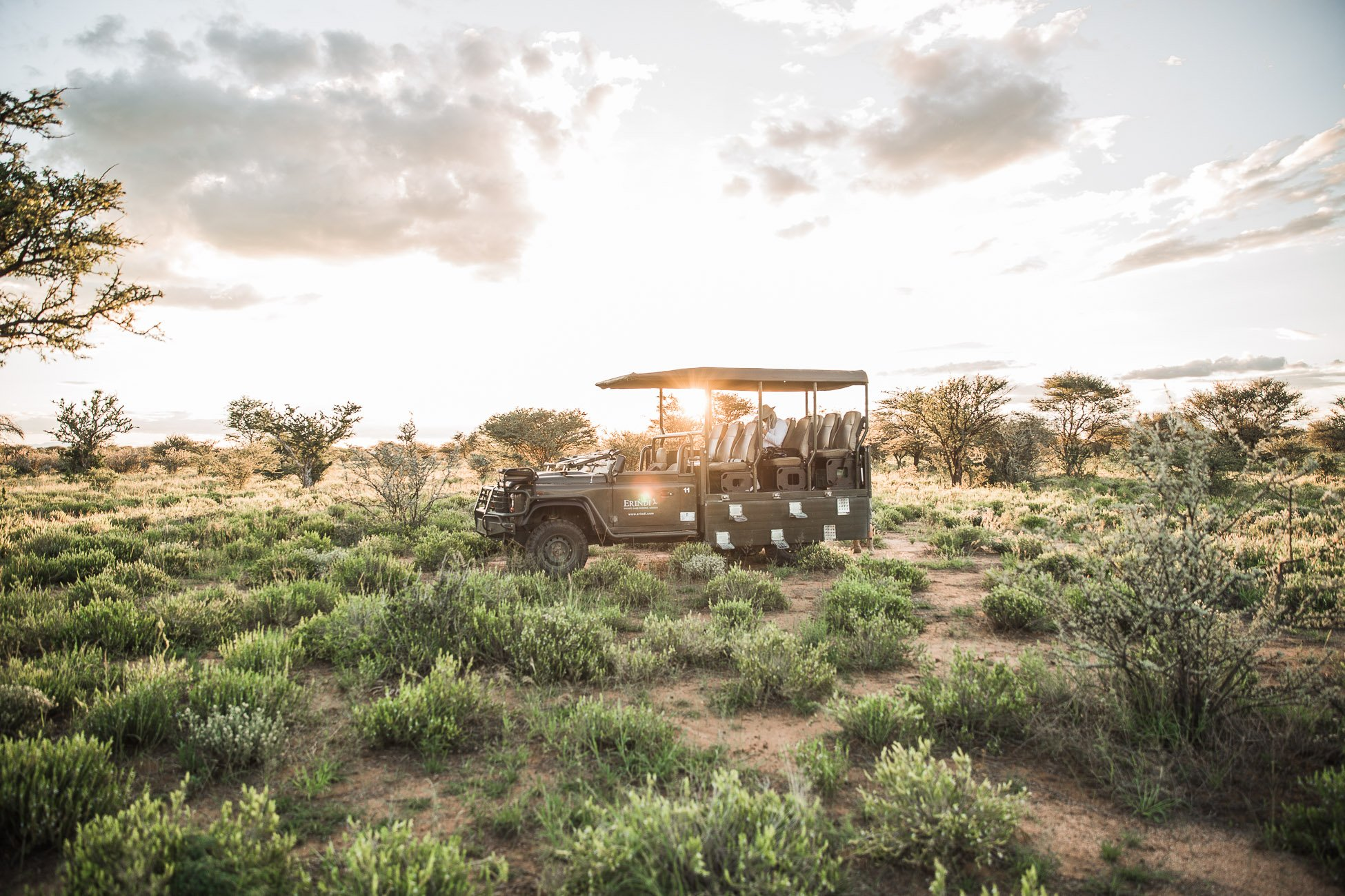 Off road at Erindi Private Game Reserve