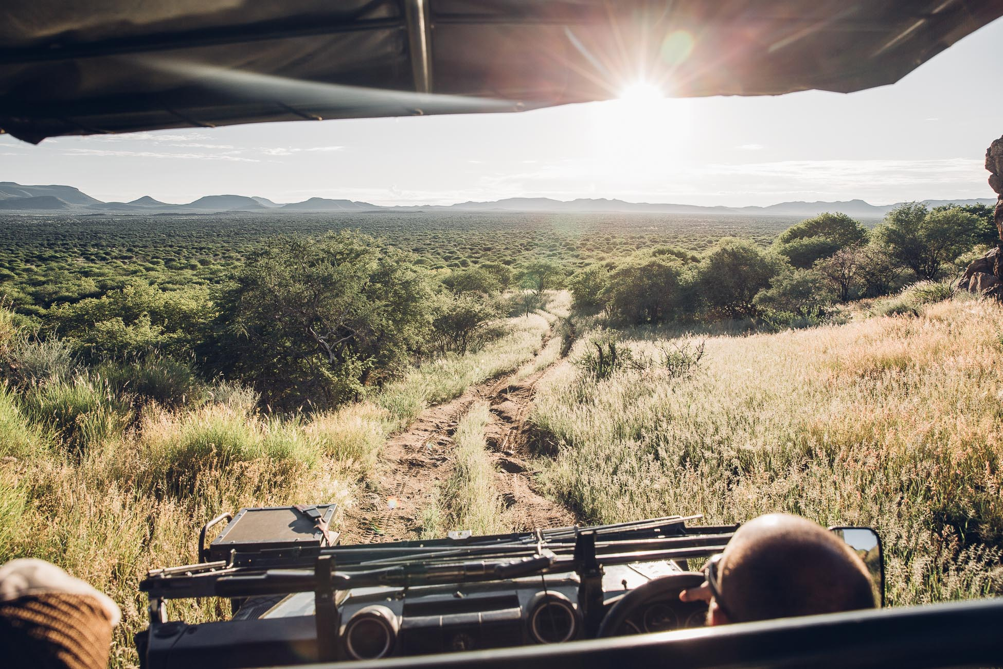 Car view at Erindi Private Game Reserve