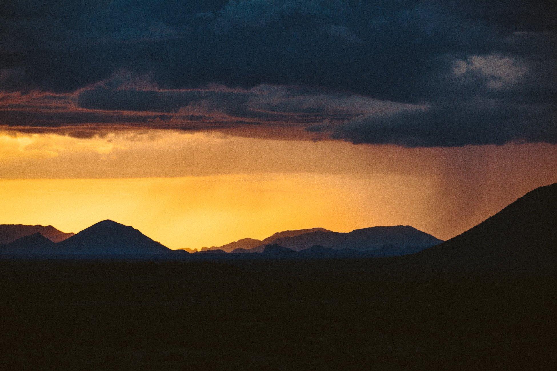 Rain cloud in Namibia in April