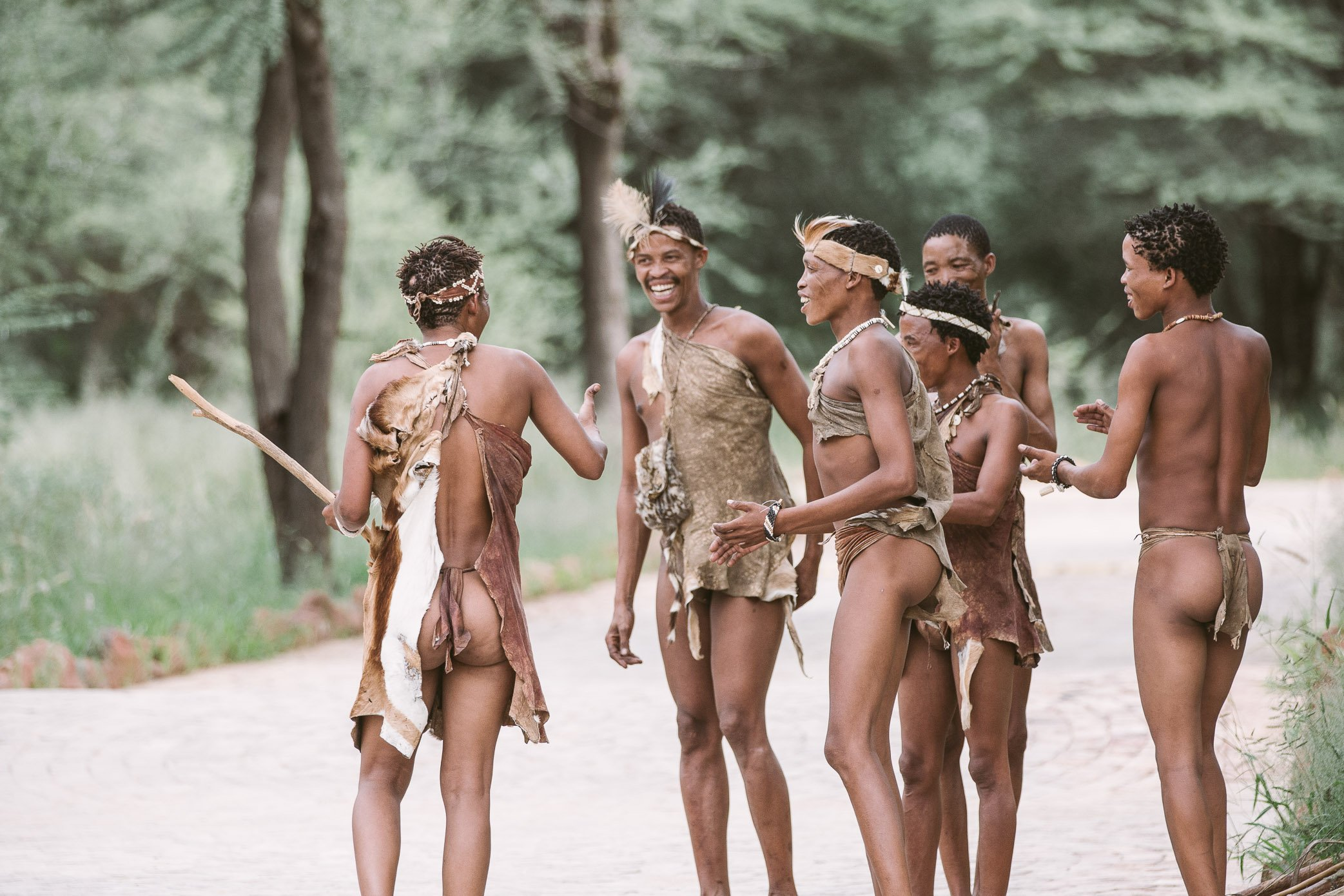 Local bushmen at Erindi Private Game Reserve