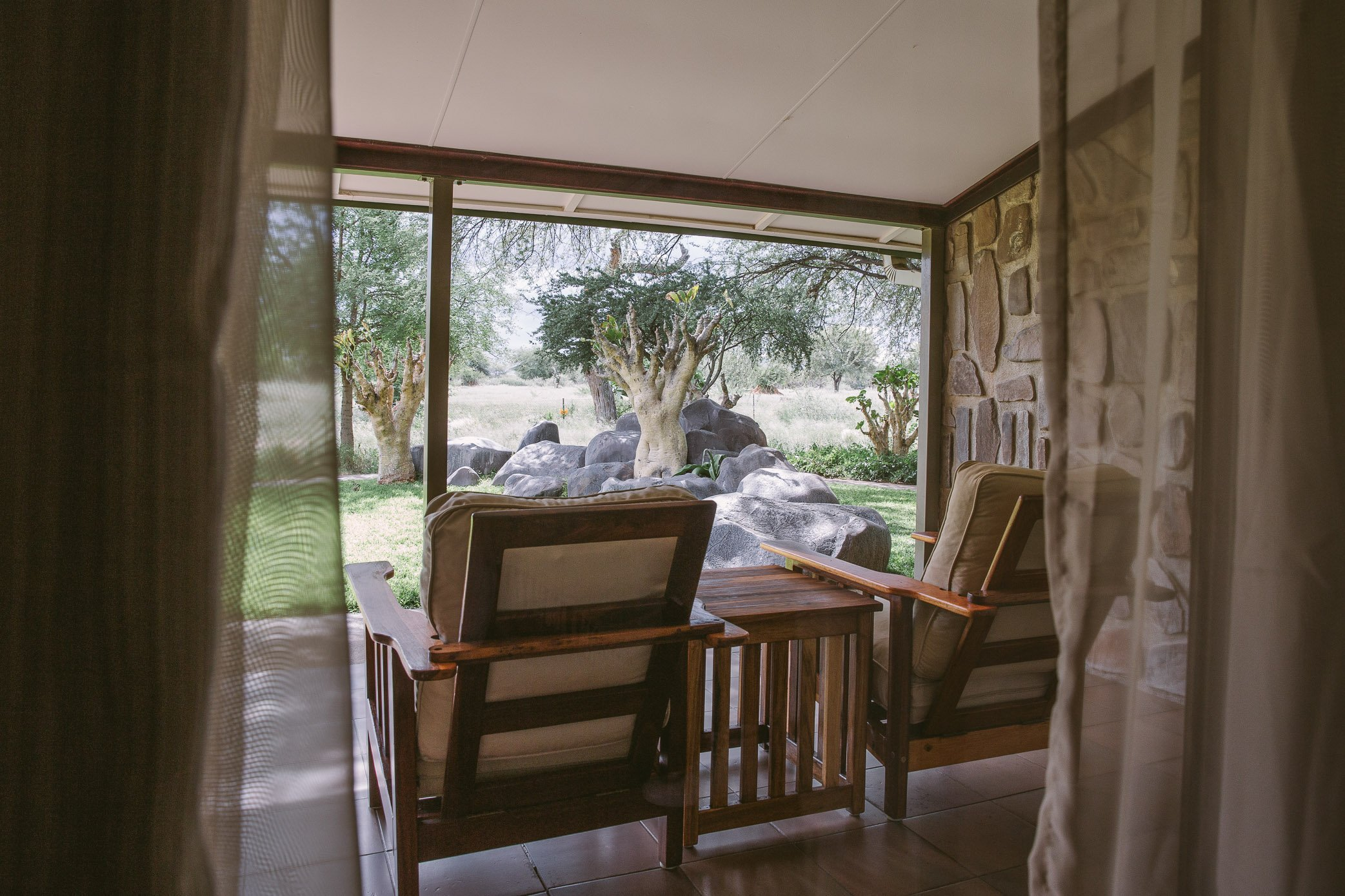 Terrace of a Luxury Suite at Erindi Private Game Reserve
