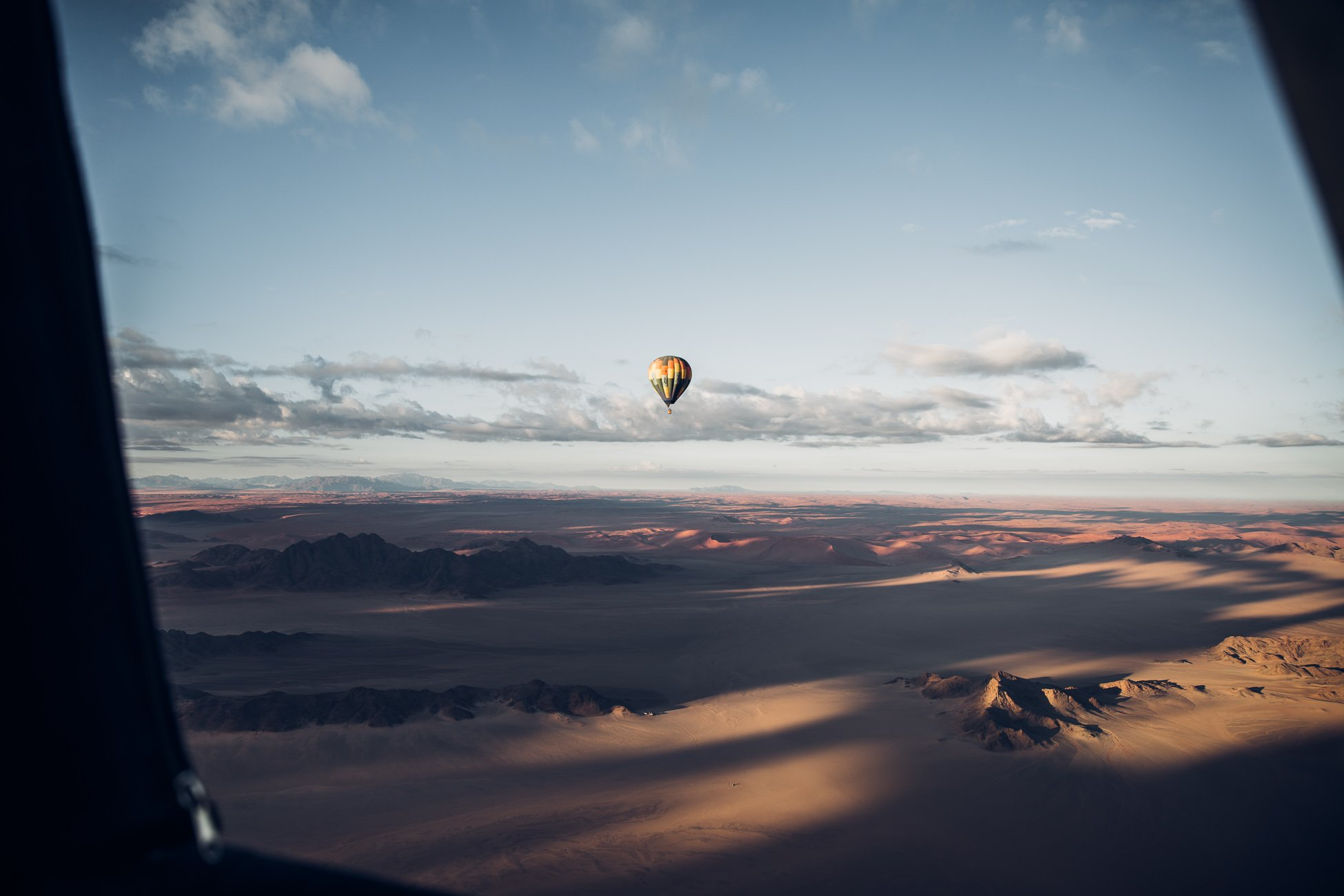 Hot air balloon ride Sossusvlei Namibia