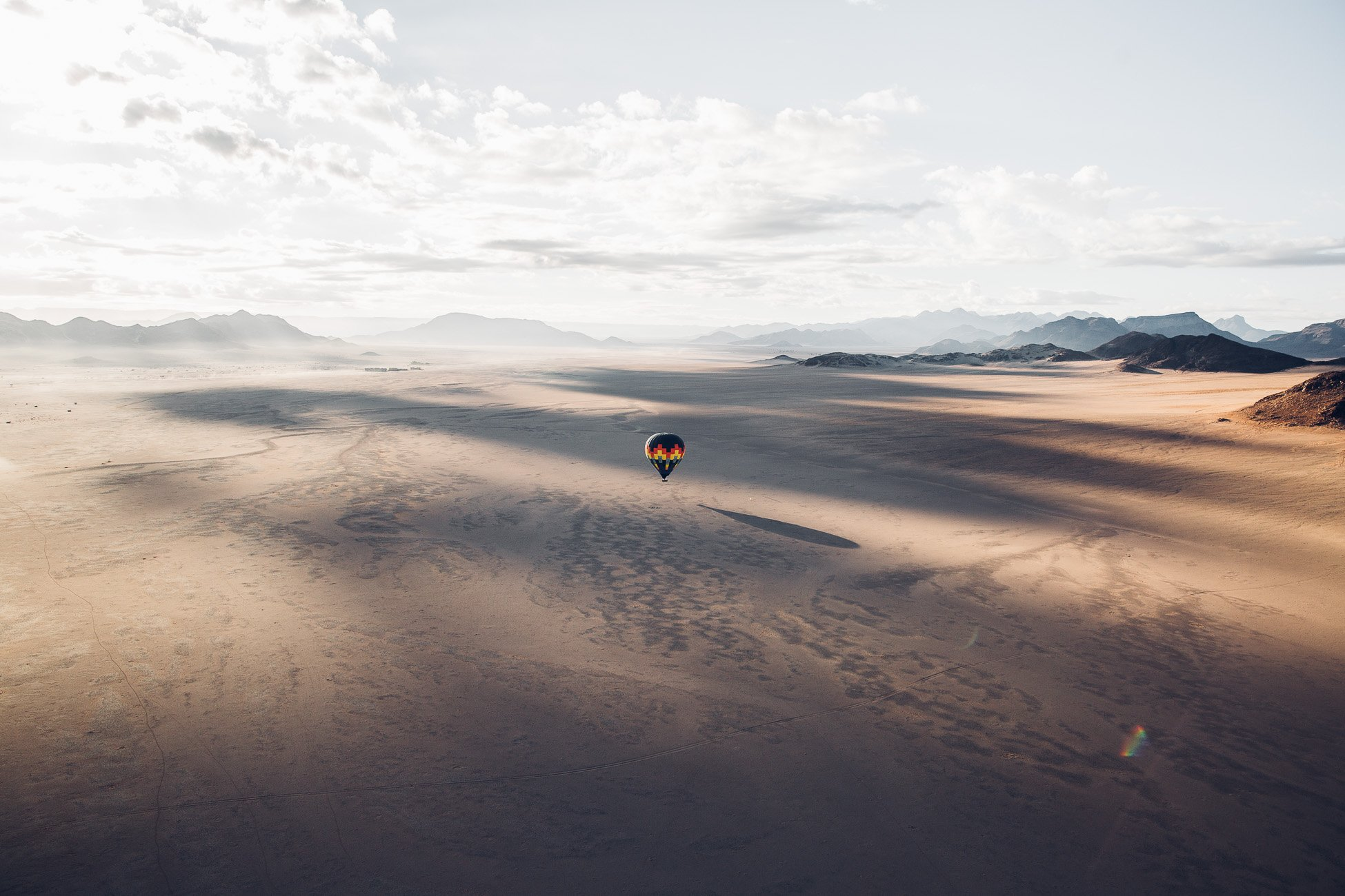 Hot air balloon ride at Sossusvlei Namibia