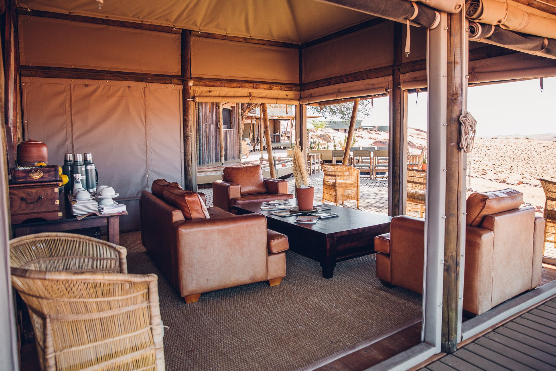 Main area of Wolwedans Dune Camp