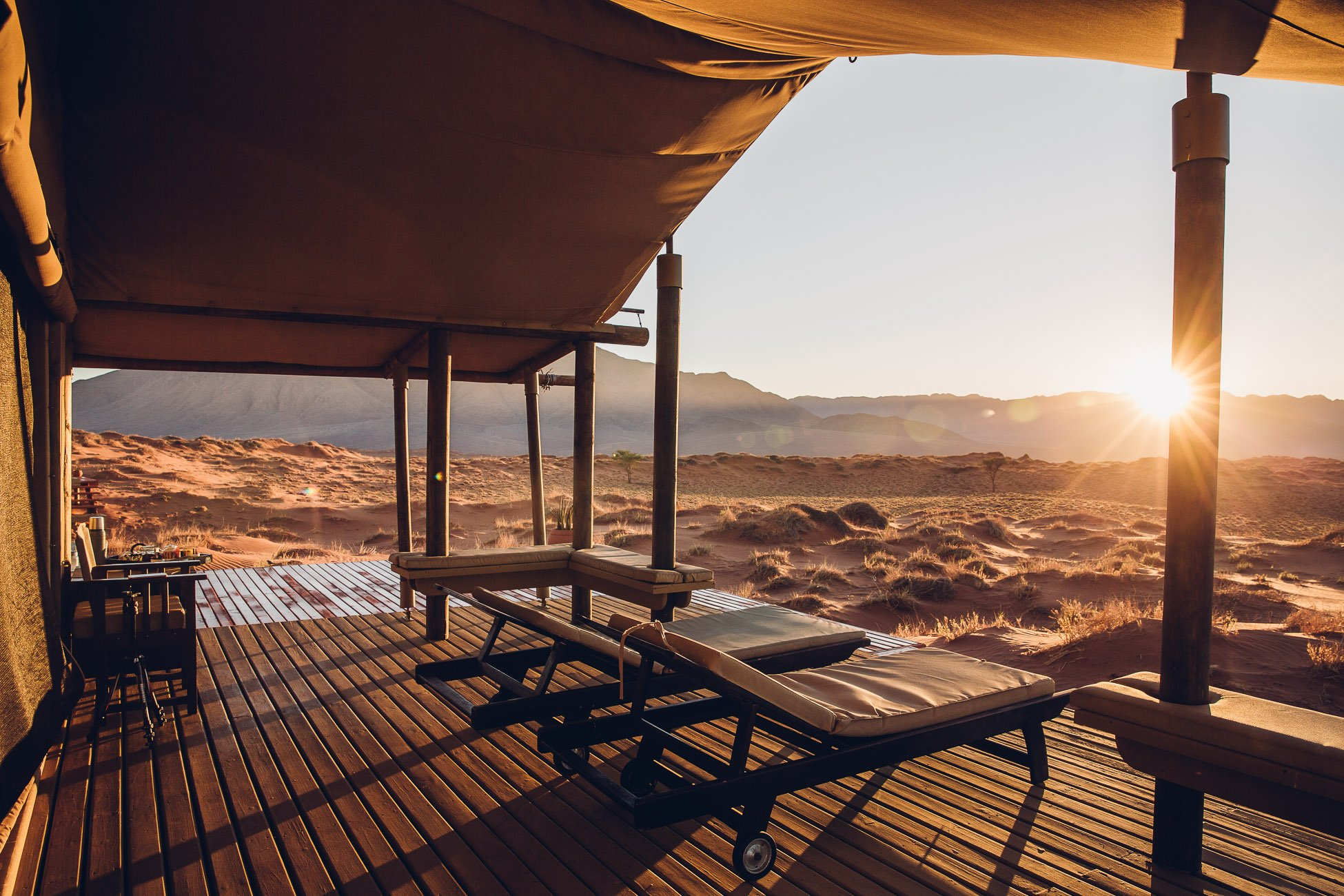 Sunrise at Wolwedans Dune Camp