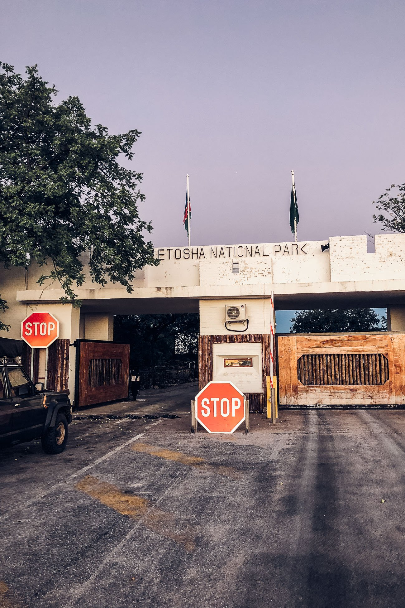 Gate to Etosha National Park
