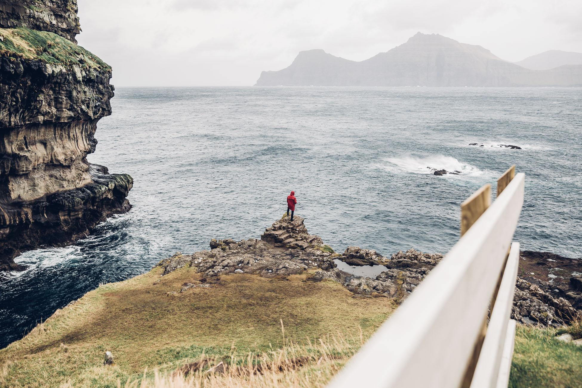 Gjógv harbour Faroe Islands