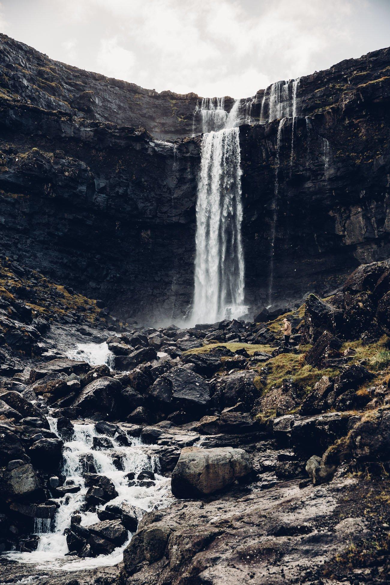 Fossa waterfall Faroe Islands