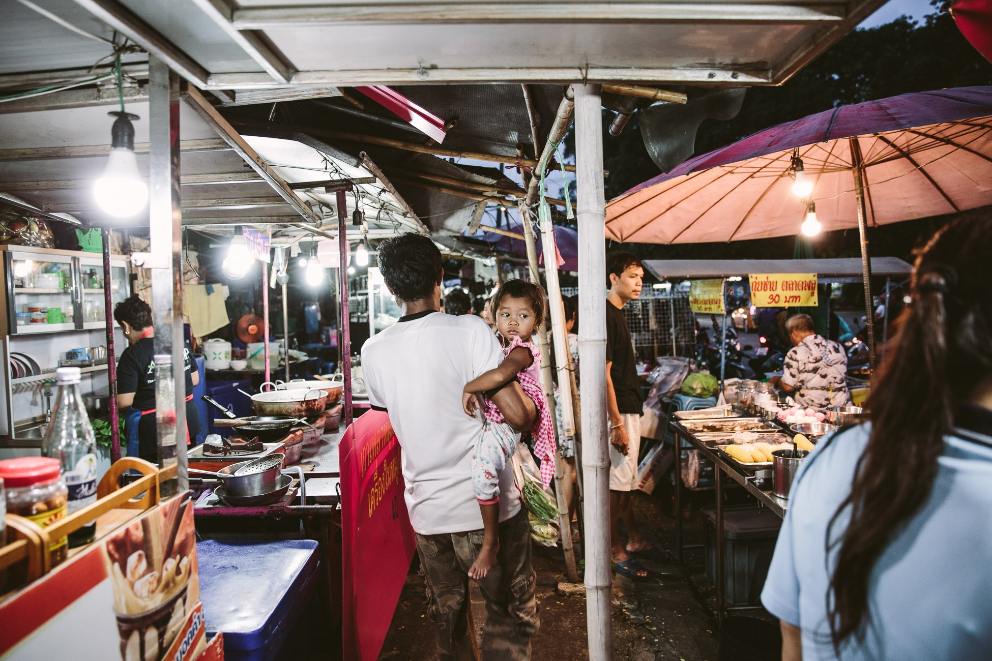 Market close to Sam Sen Train Station Bangkok