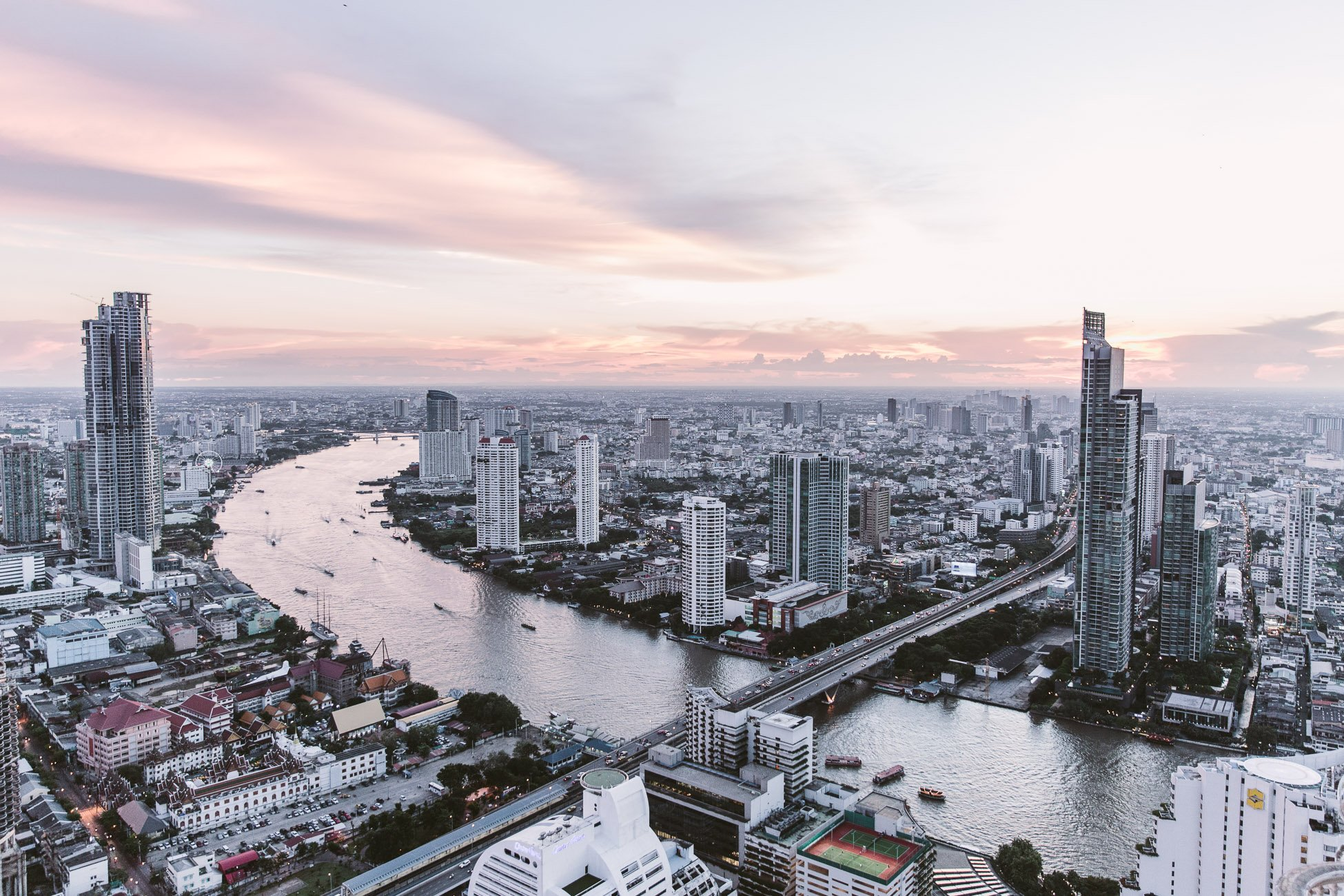 Bangkok view at sunset