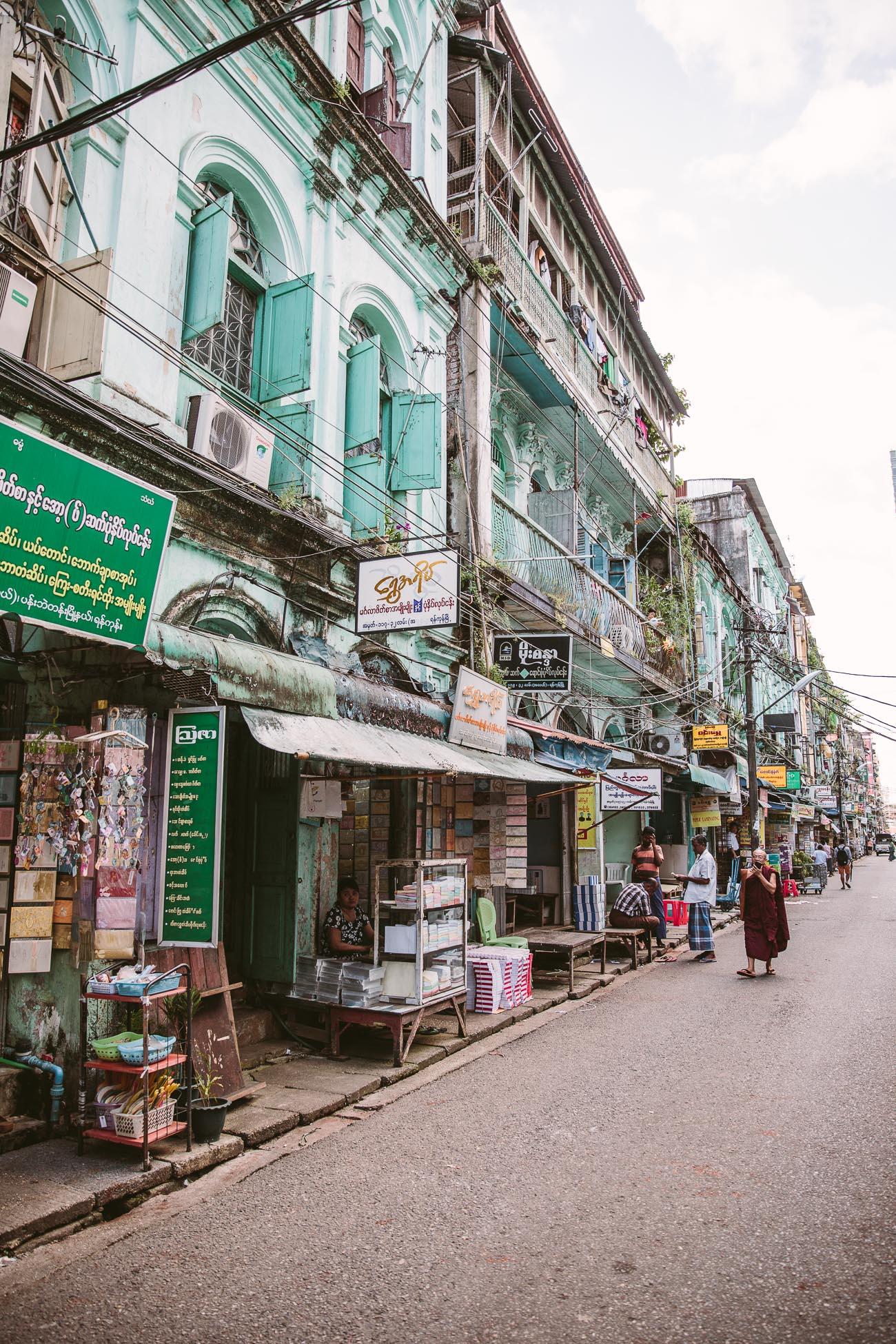 Market Yangon Myanmar
