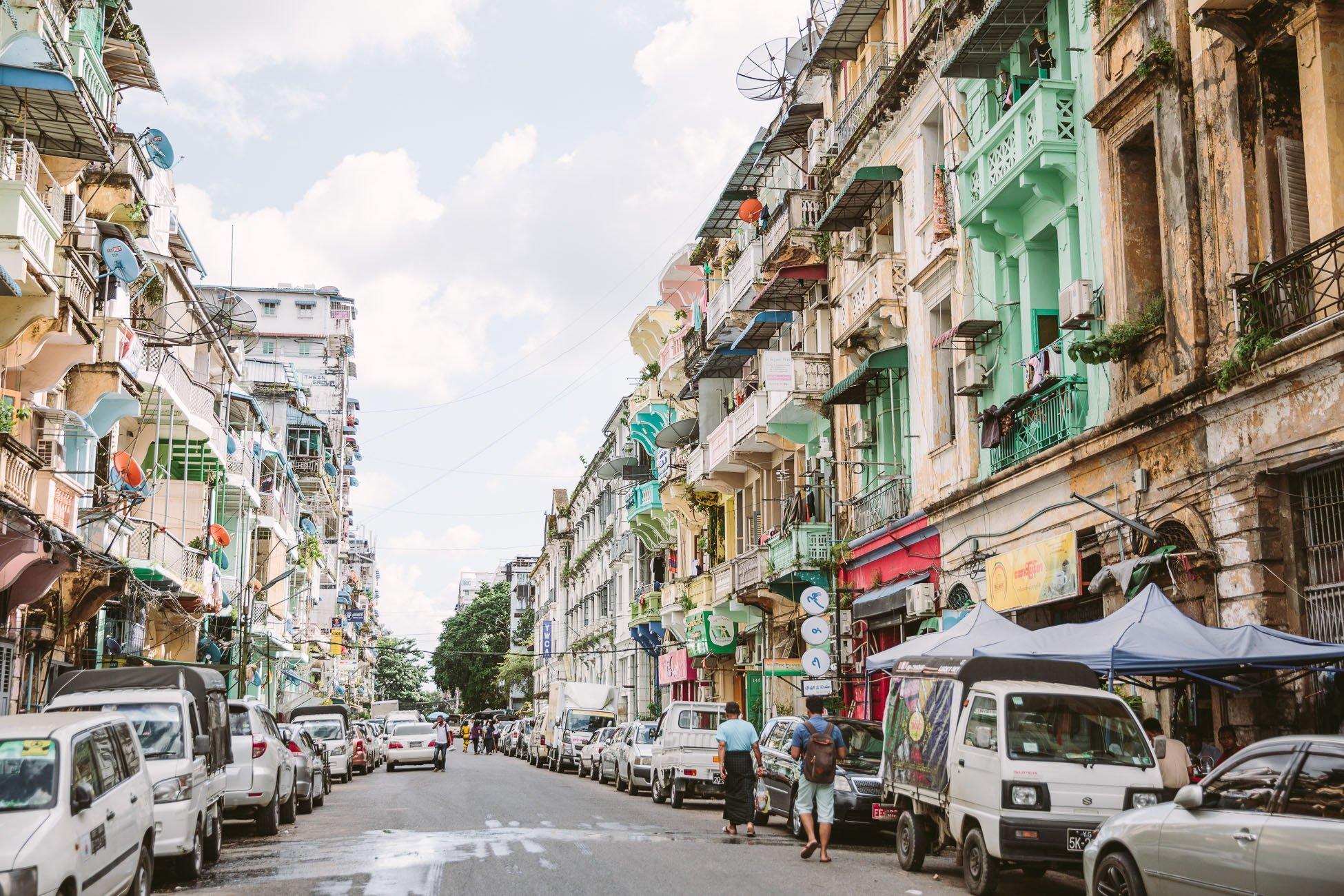 Yangon Street Myanmar