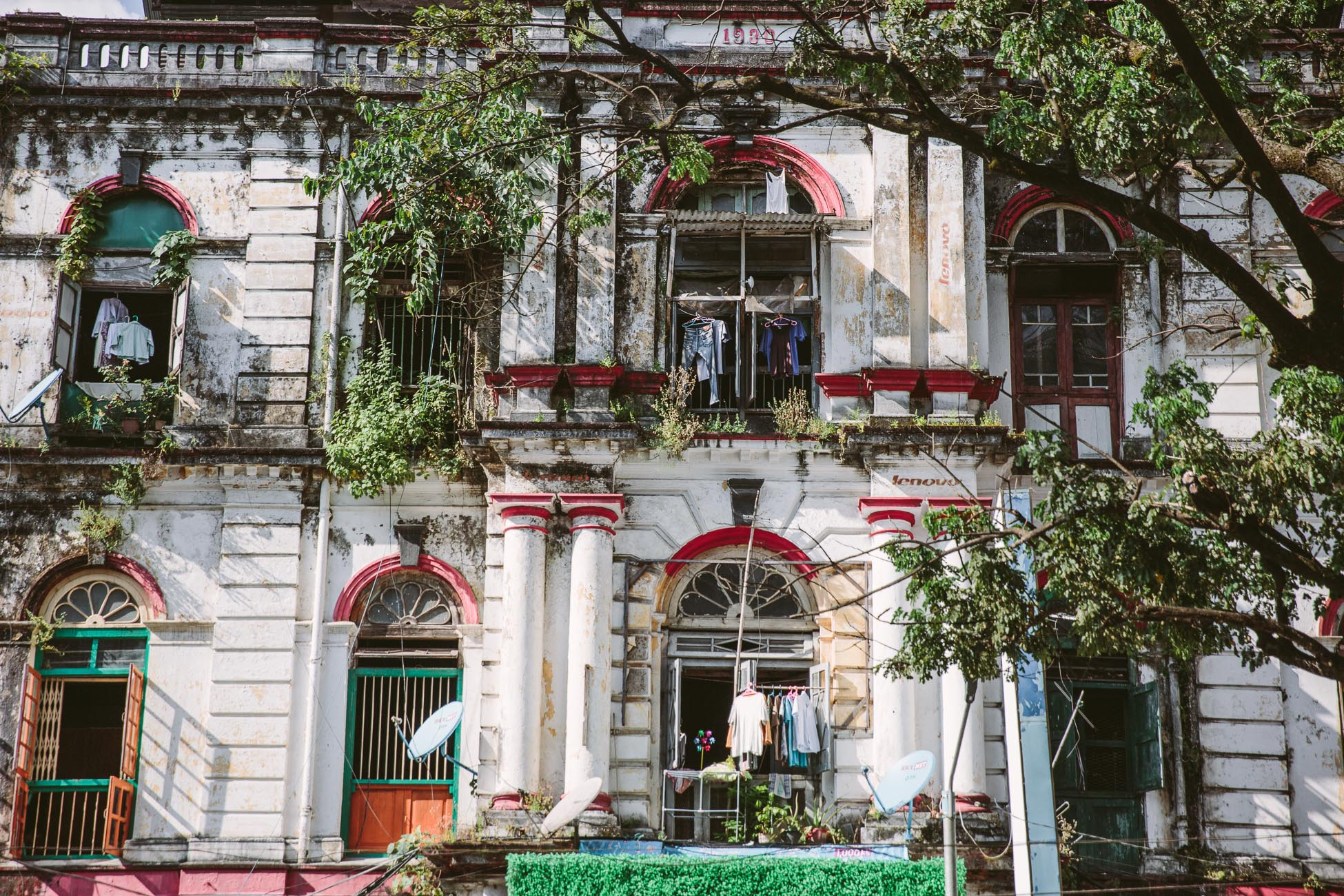 Architecture of Yangon Myanmar