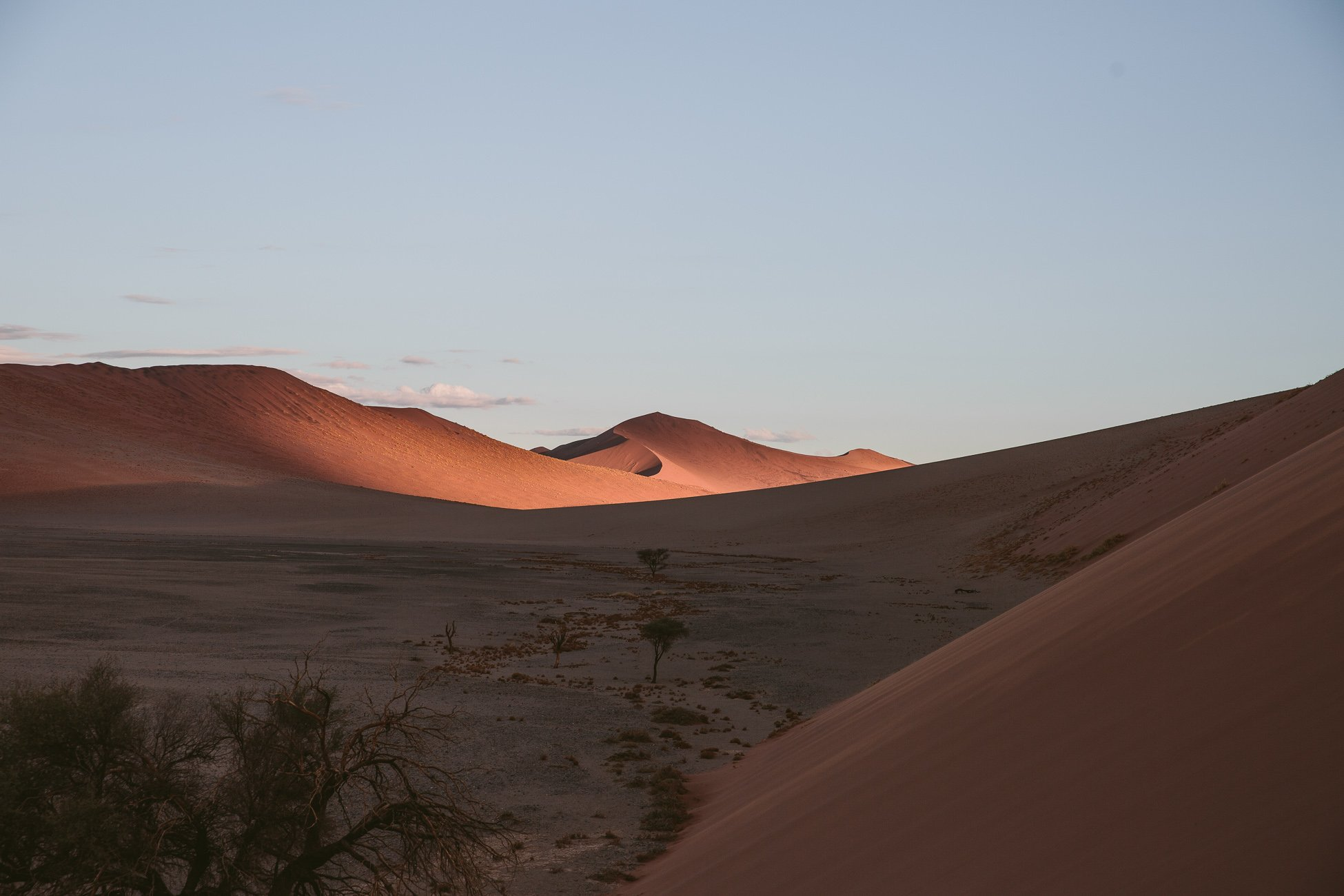 Sossusvlei at sunset