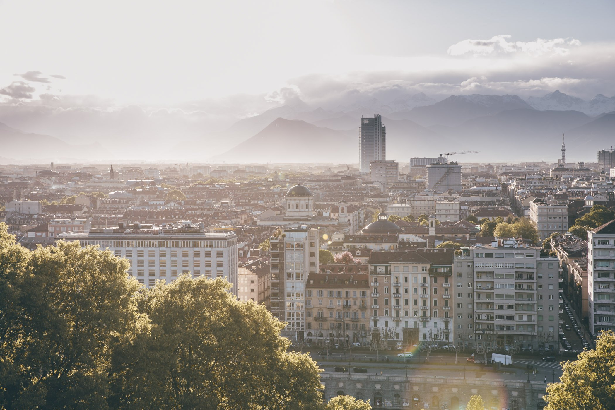 Turin Italy Piedmont as seen from Monte dei Cappuccini