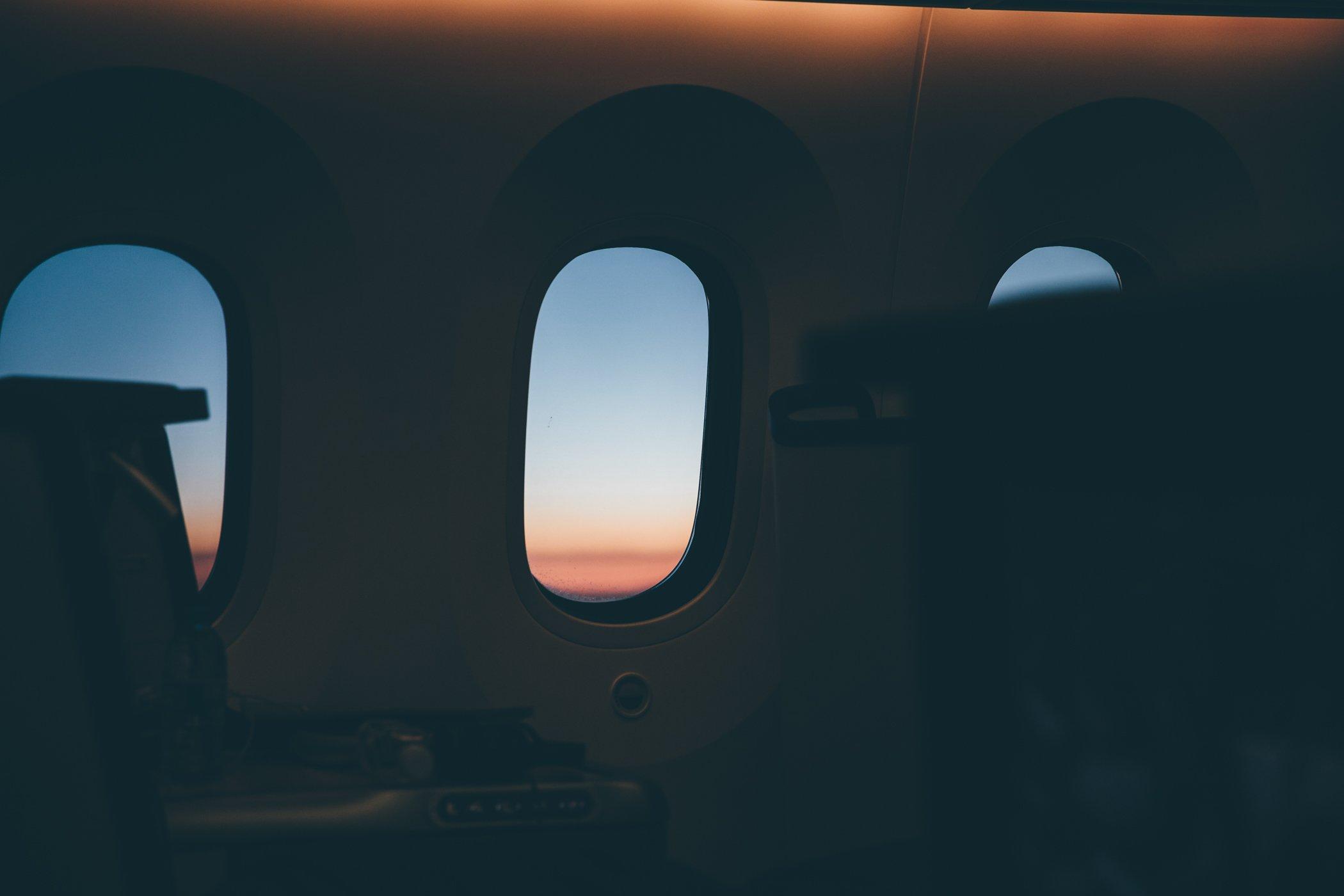 ANA Dreamliner flight from Vienna to Tokyo