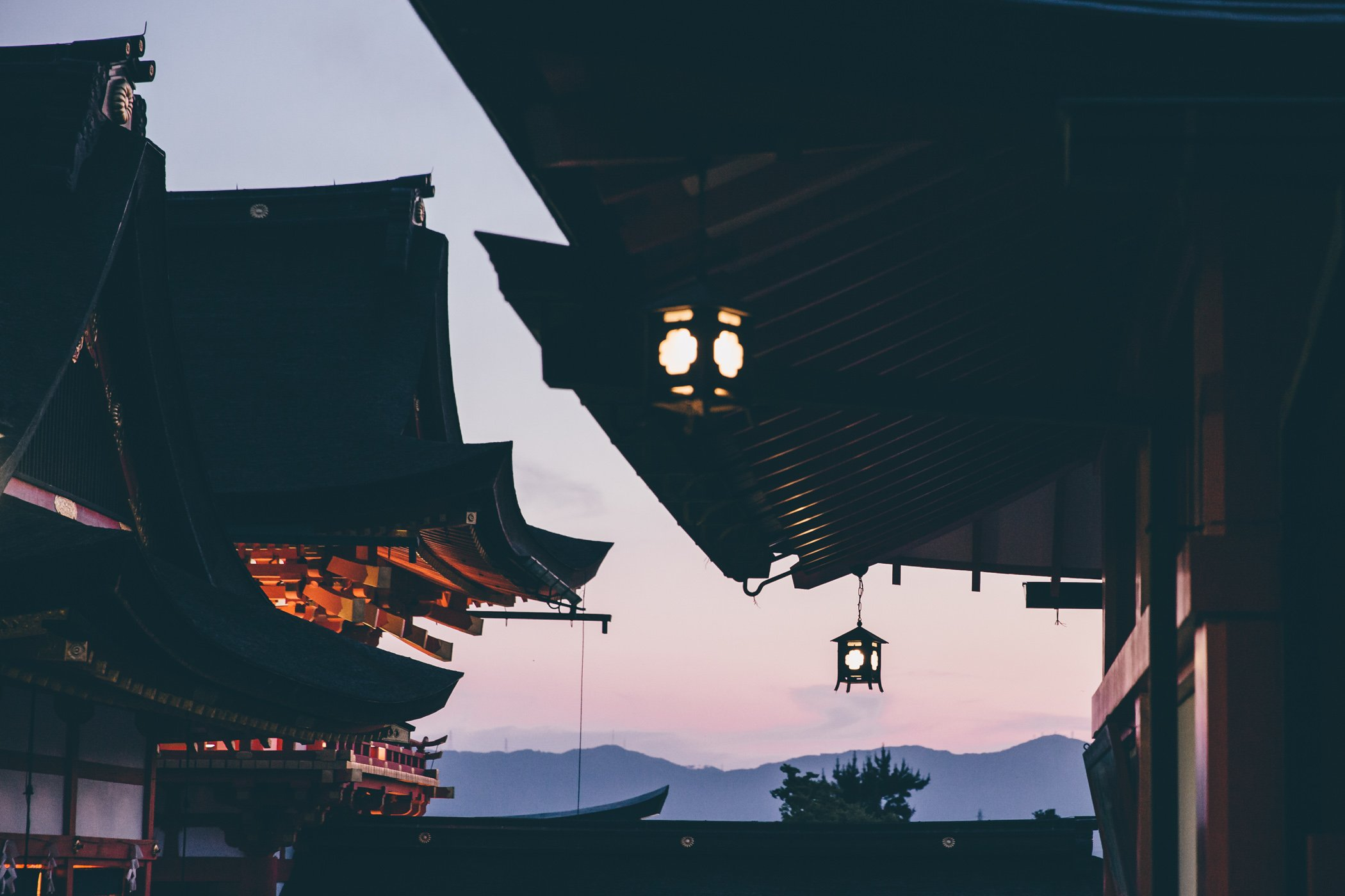 Sunset over Kyoto as seen from Fushimi Inari-Taisha