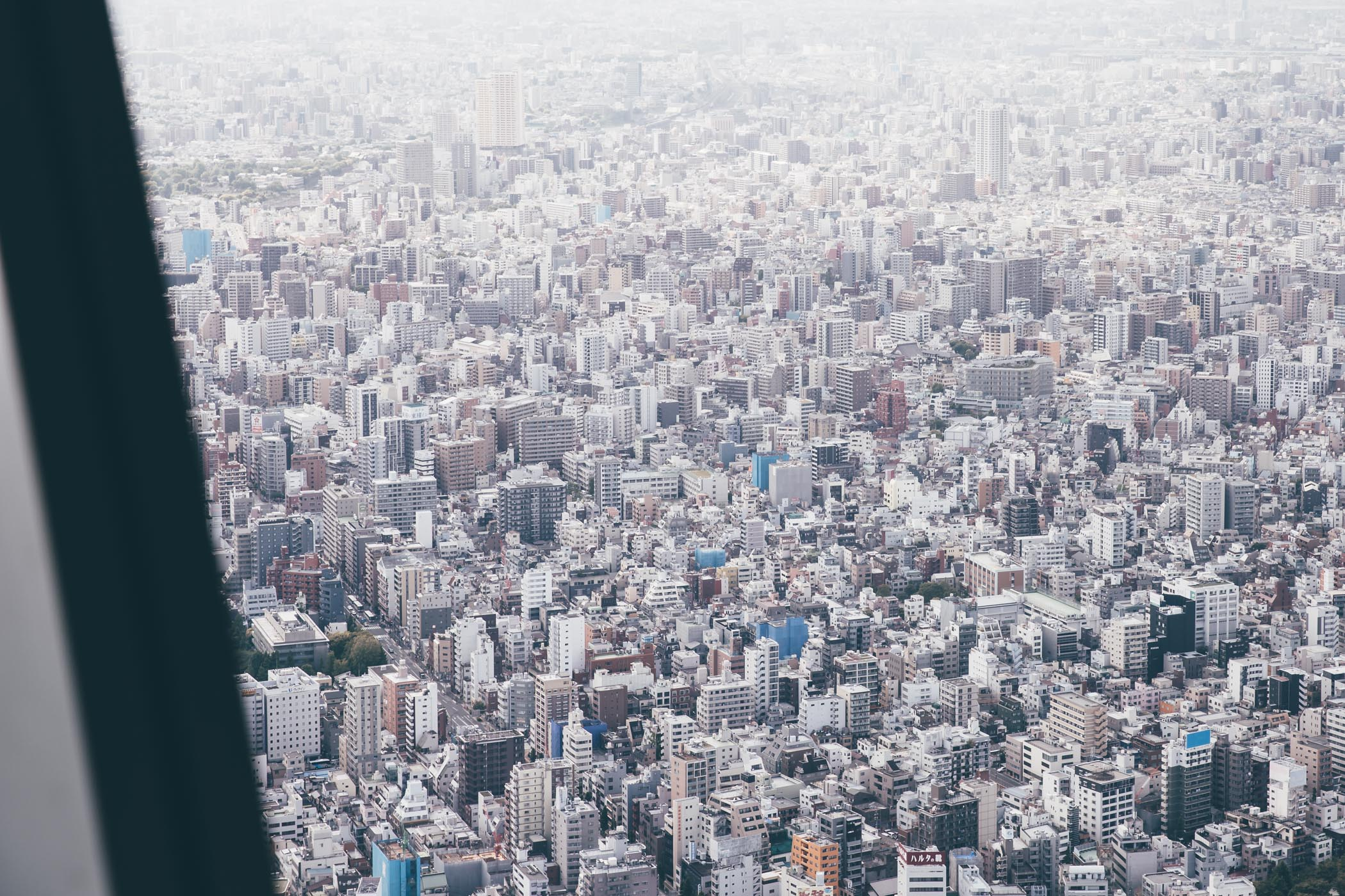 Tokyo as seen from above