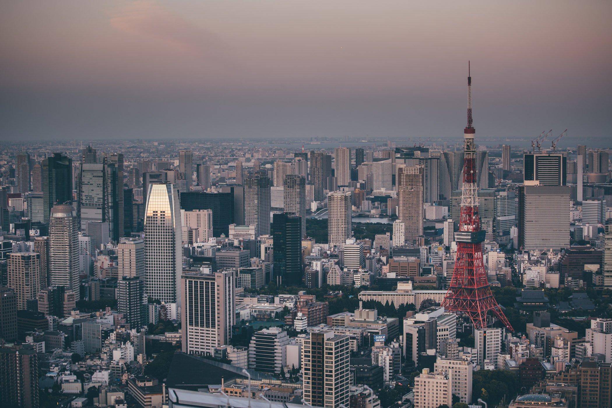 The observation deck at Roppongi Hills Tokyo