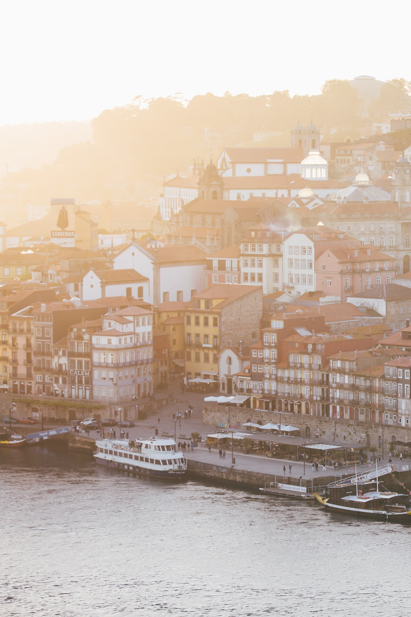 Sunset over Porto as seen from Vila Nova de Gaia