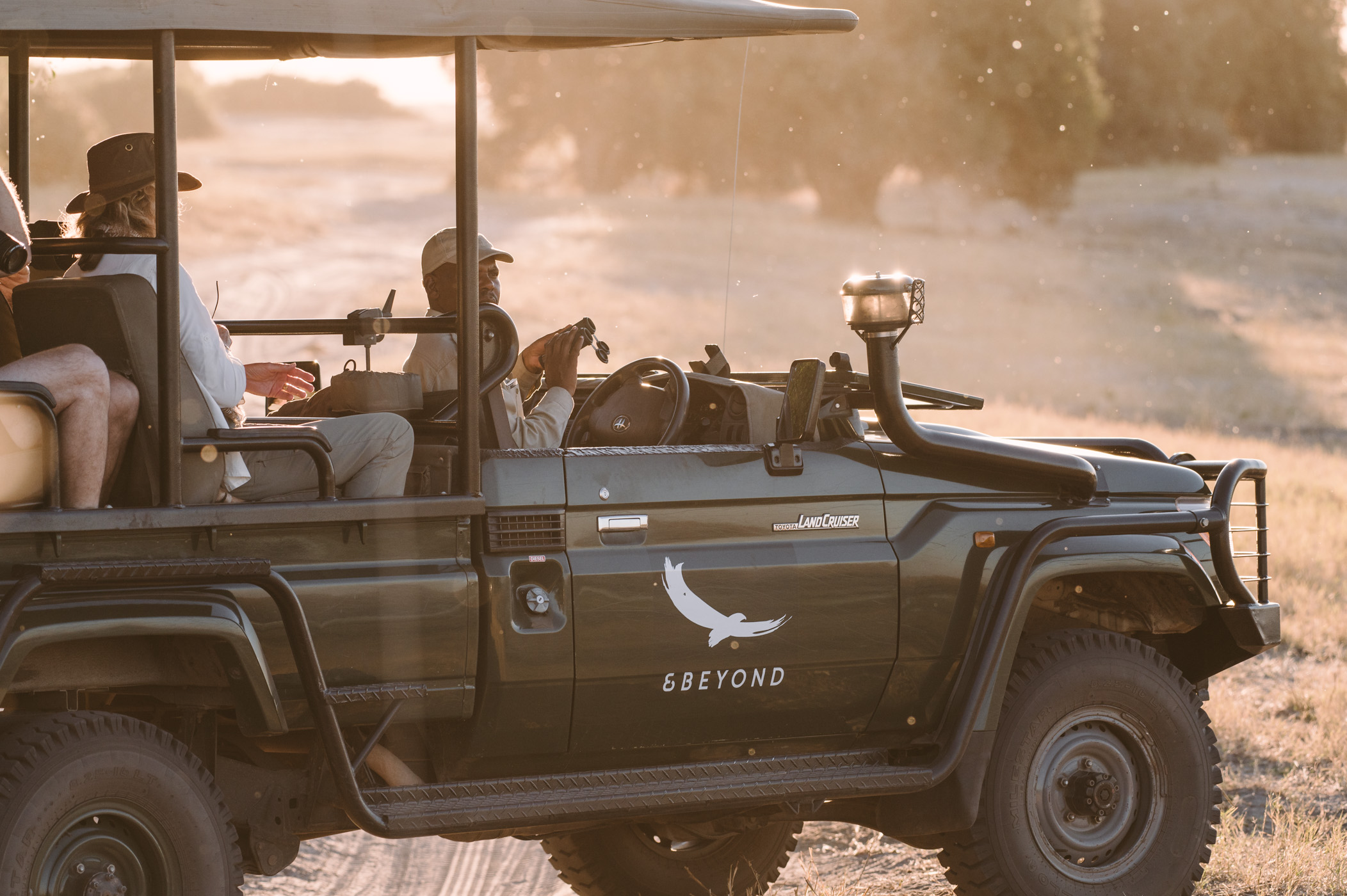 Safari vehicle in Chobe National Park