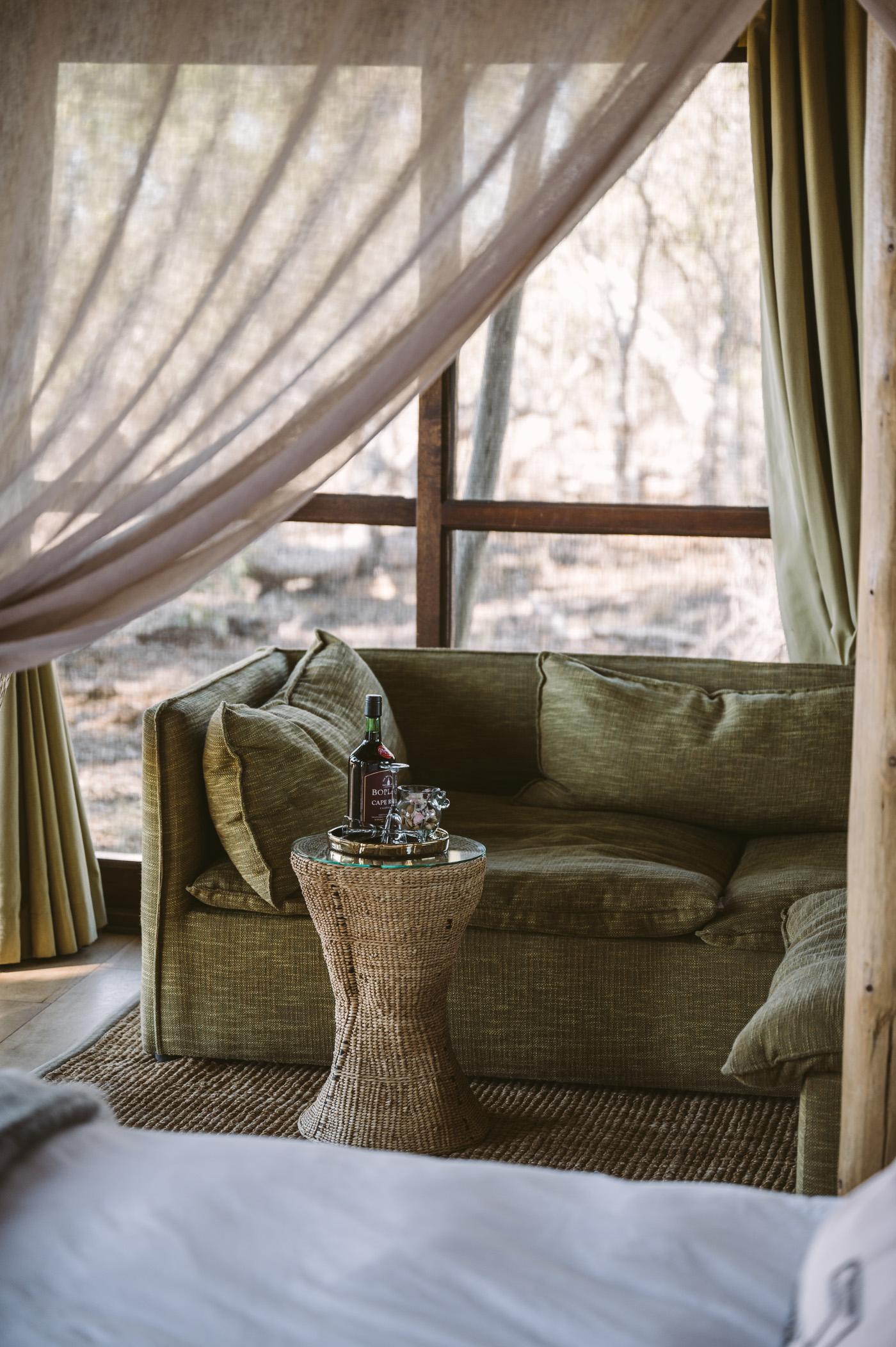 andBeyond Xaranna Okavango Delta Camp couch
