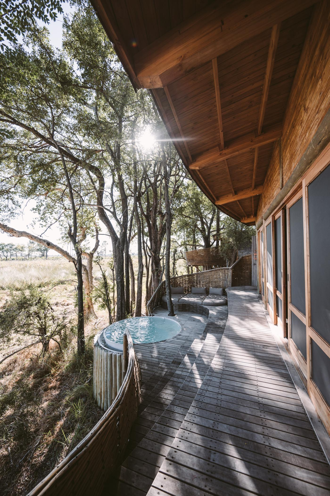 andBeyond Sandibe Okavango Delta Lodge private deck and plunge pool