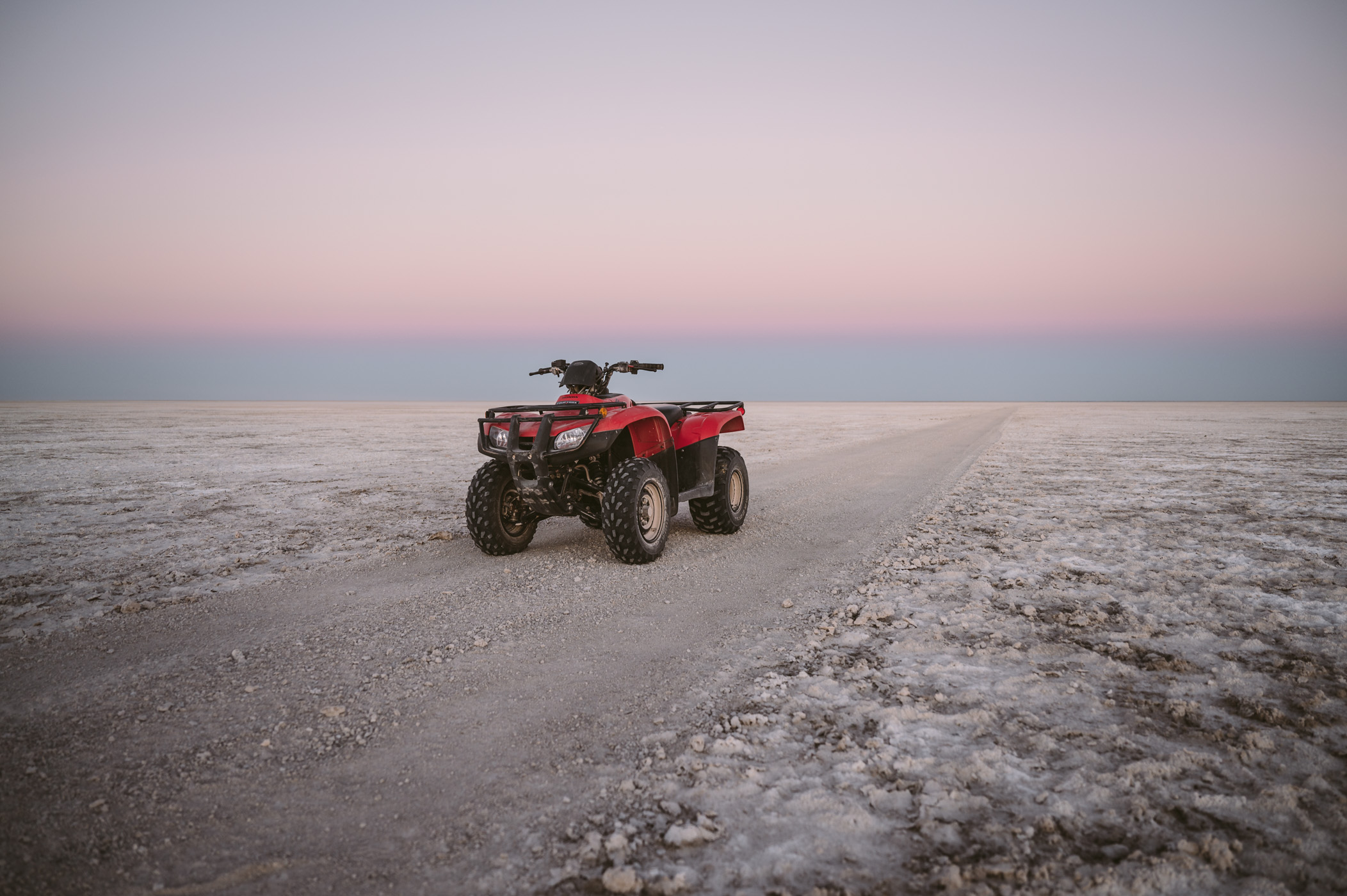Quad in the Makgadikgadi Salt Pan