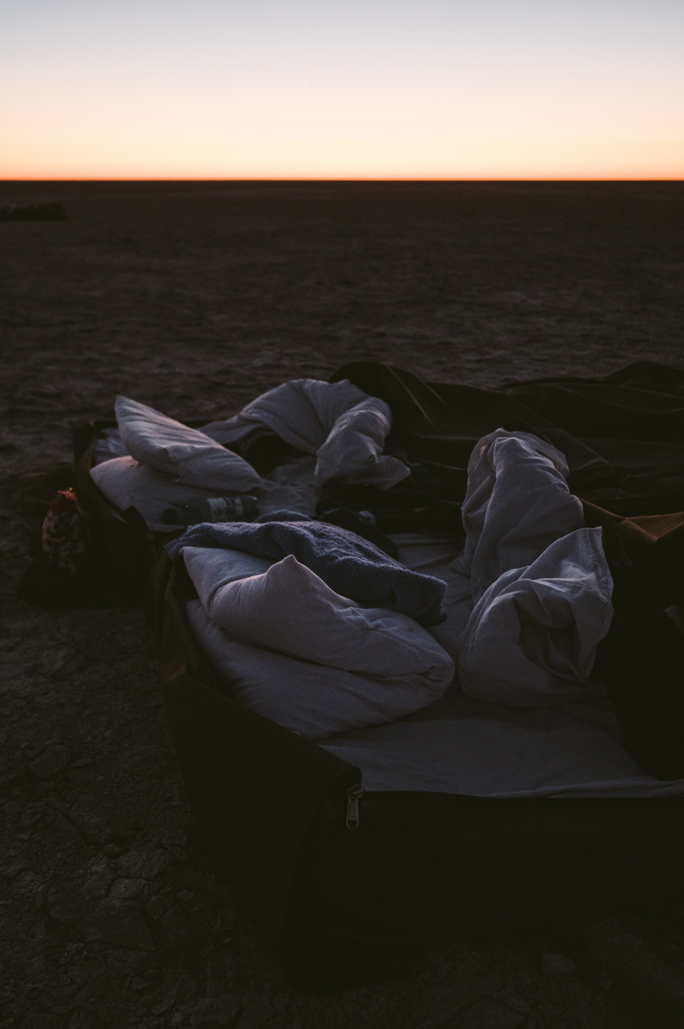 Sleep-out under the stars in the Salt Pan in Botswana