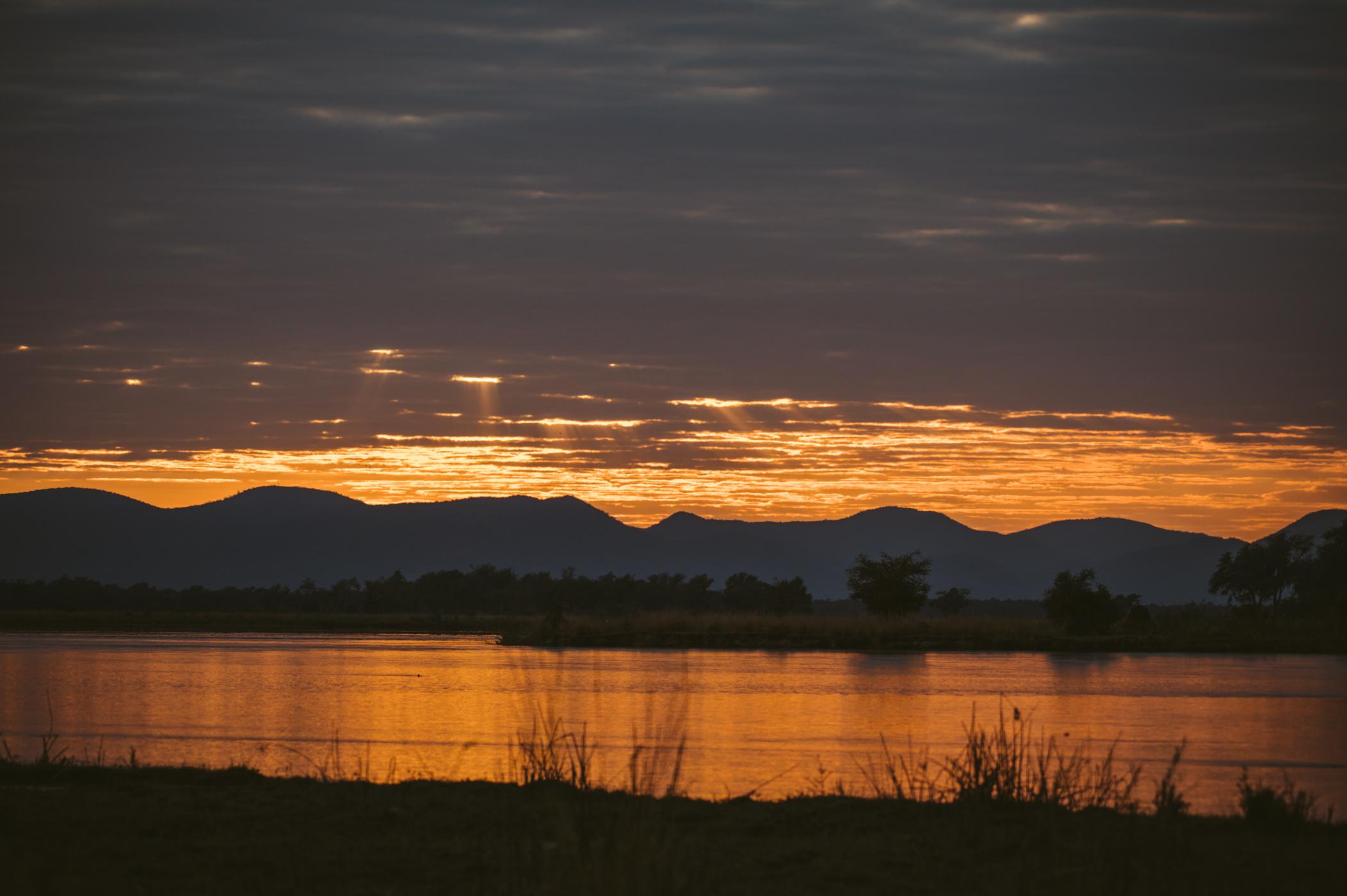 Sunset a Lower Zambezi National Park Zambia